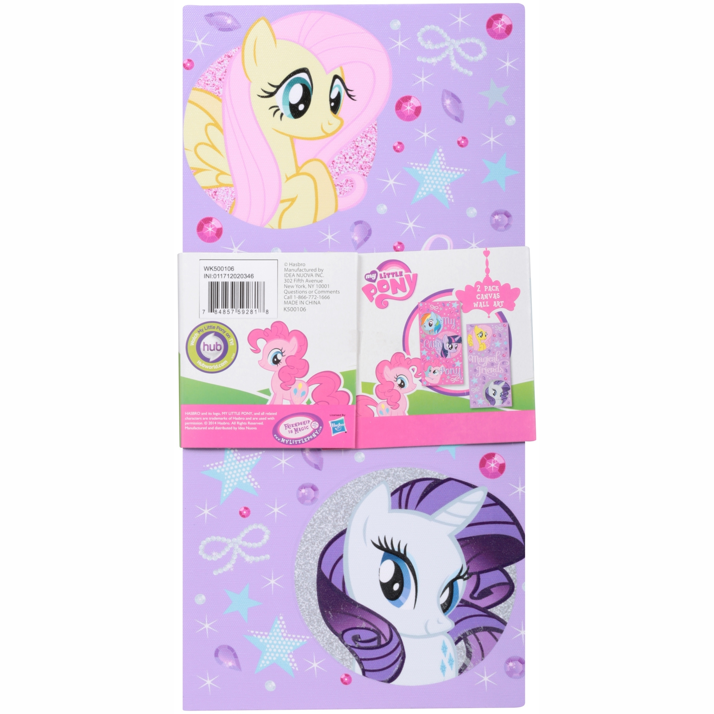 My Little Pony Glow In The Dark 2-Pack Canvas Wall Art - Walmart with regard to My Little Pony Wall Art (Image 8 of 20)