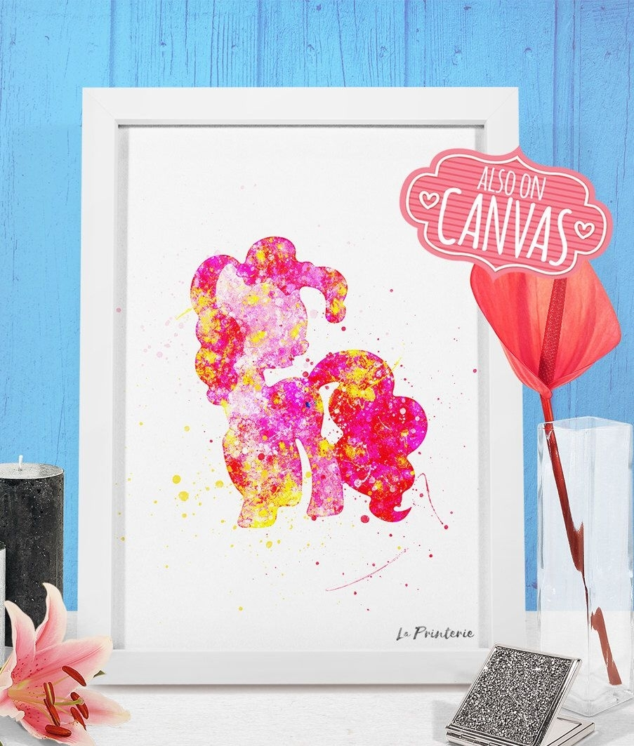 My Little Pony Wall Art Canvas, Pinkie Pie Art Prints Wall Decor with regard to My Little Pony Wall Art (Image 11 of 20)
