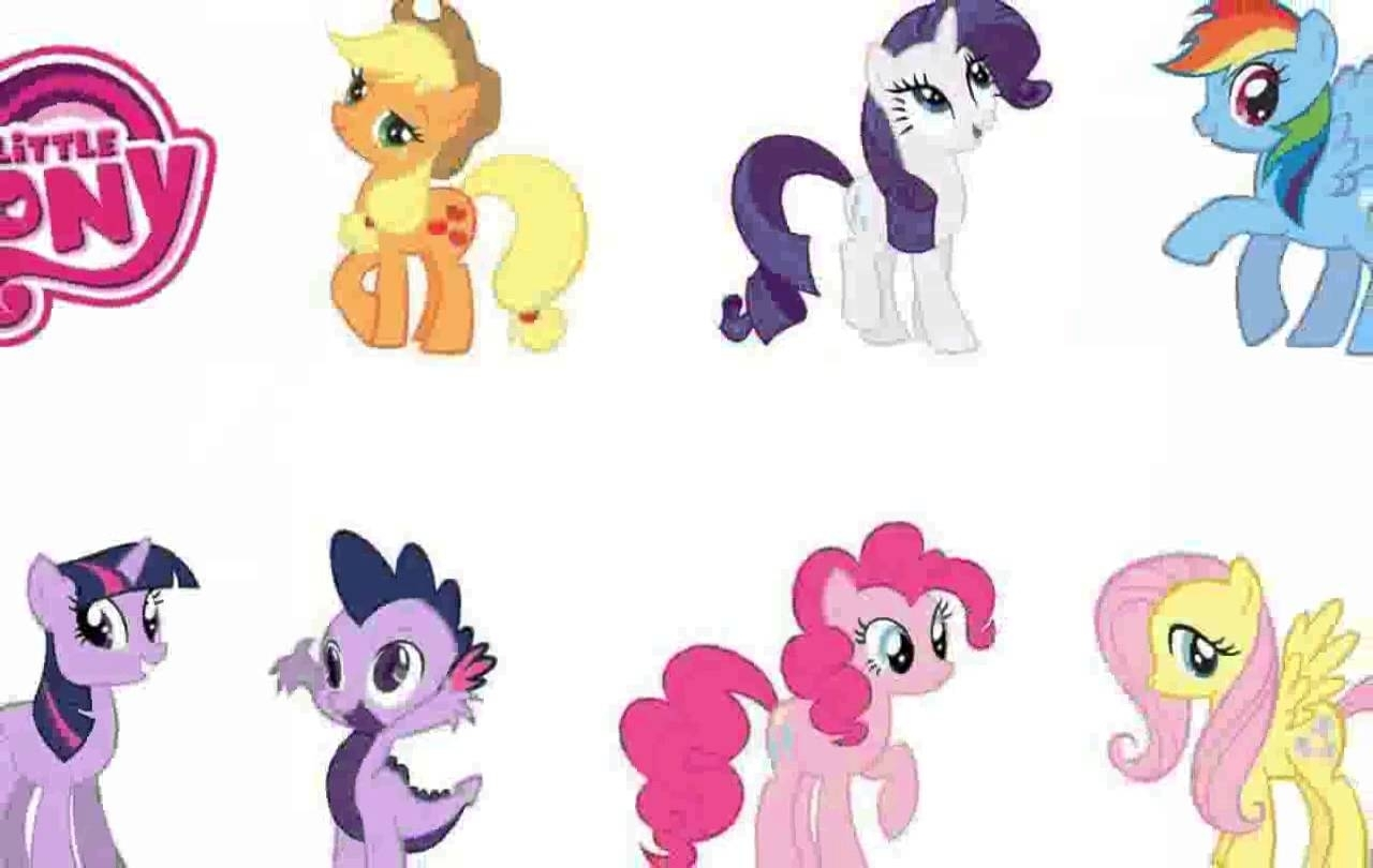 My Little Pony Wall Decals - Chocaric - Youtube regarding My Little Pony Wall Art (Image 12 of 20)