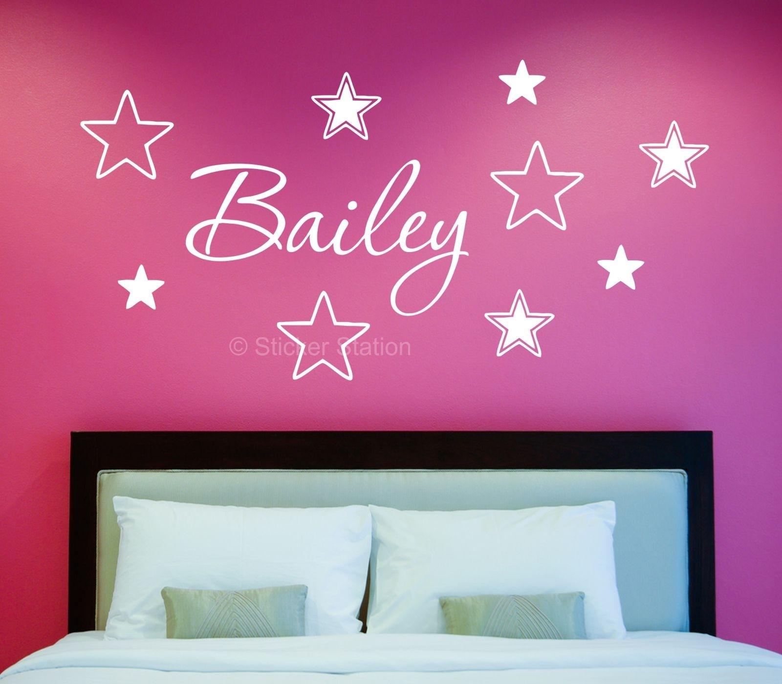 Name In Stars Personalised Wall Art Sticker Great Name Wall Art Inside Name Wall Art (Photo 14 of 20)