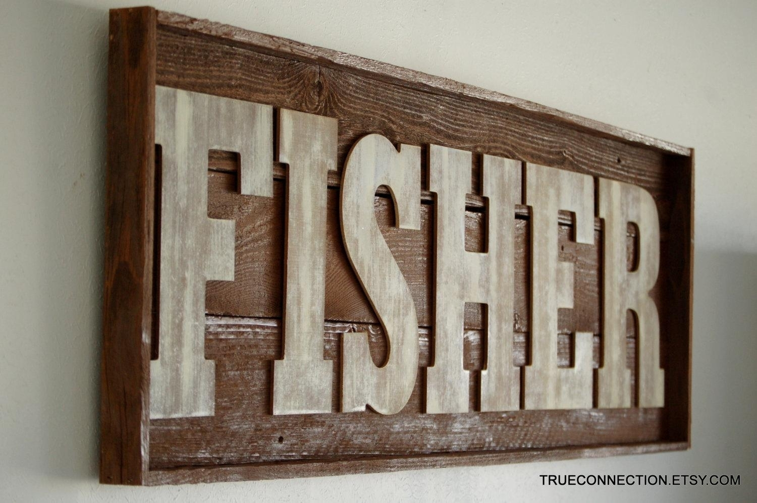 Name Sign Framed Custom Kids Room Last Name Wall Art Within With Personalized Wood Wall Art (Photo 8 of 20)