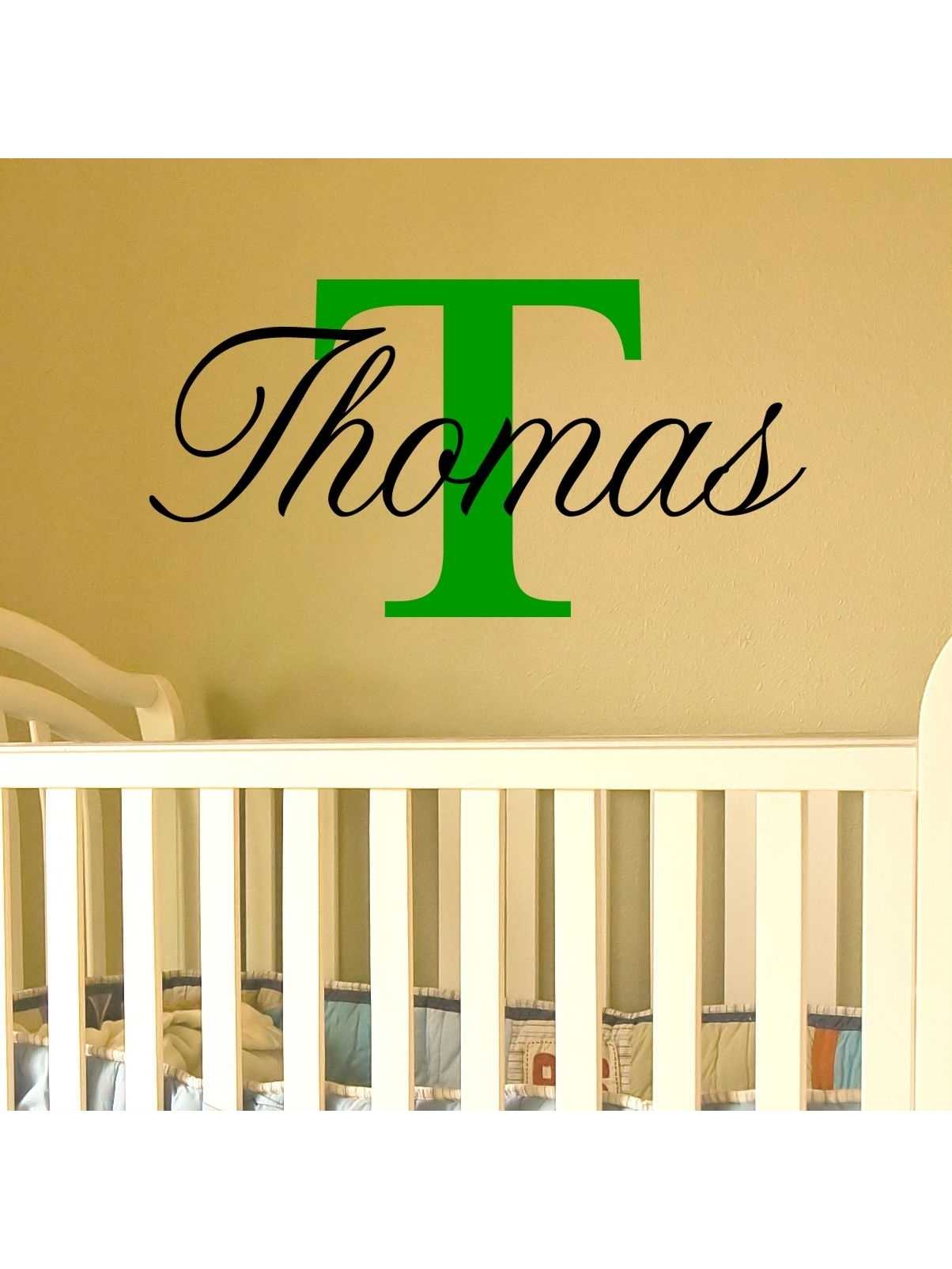 Name Wall Art With Capital Letter (Available For A Boy Or Girl) In Name Wall Art (Photo 10 of 20)