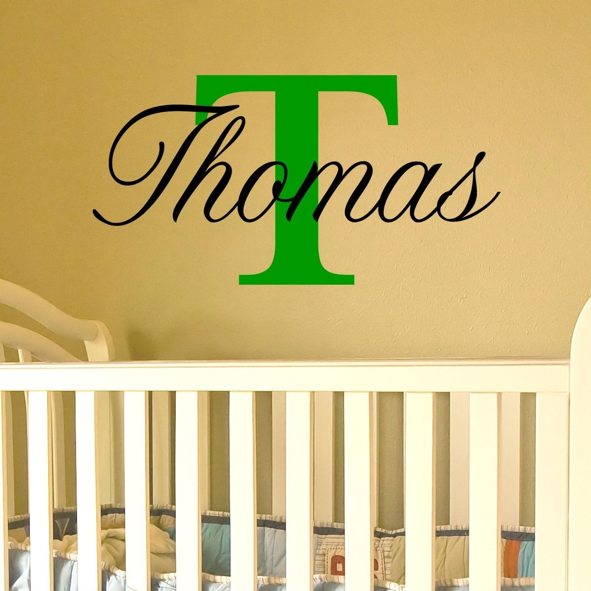 Name Wall Art With Capital Letter (Available For A Boy Or Girl) With Letter Wall Art (Photo 11 of 20)
