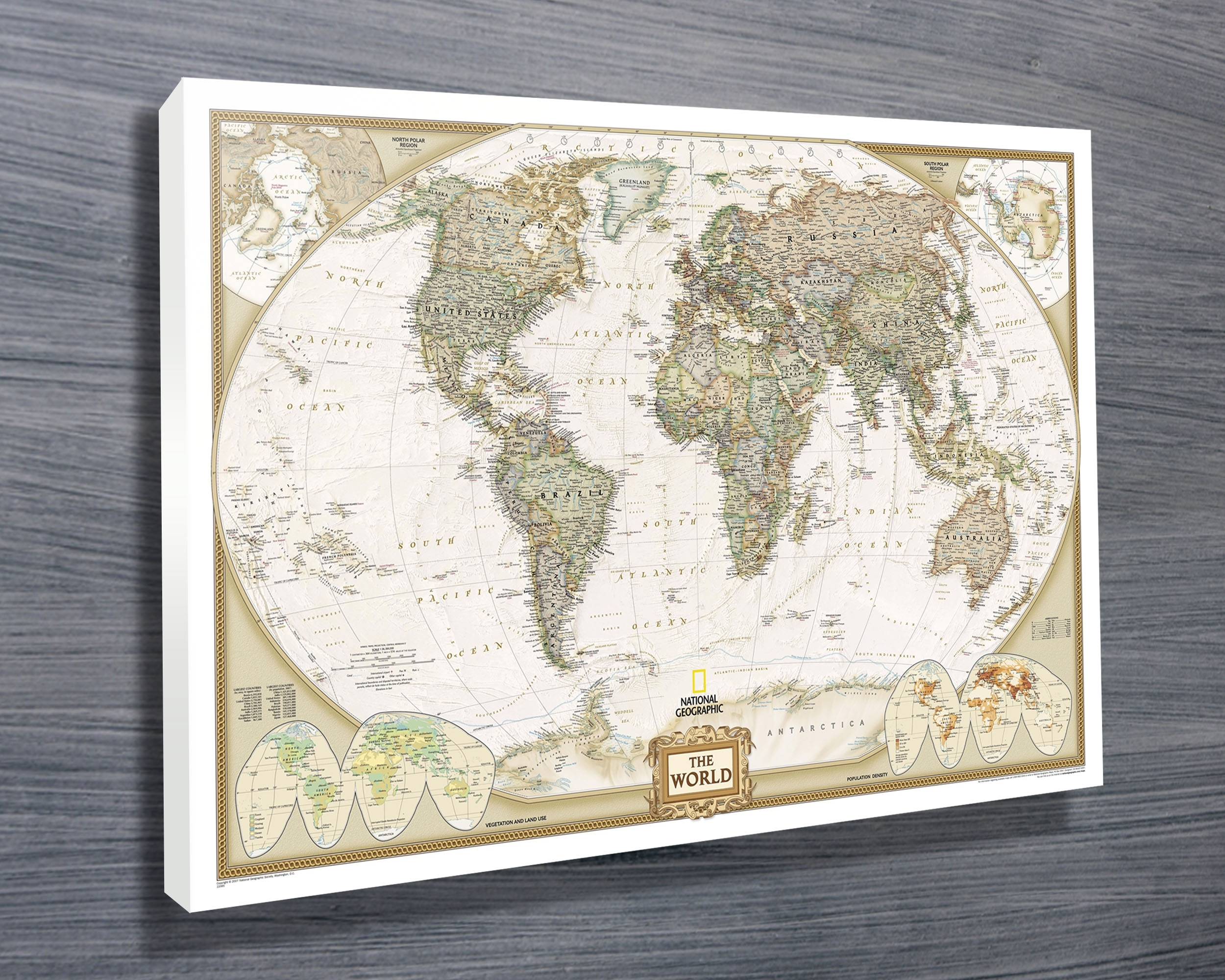 National Geographic Map   Canvas Prints Australia Intended For Map Wall Art Prints (Photo 12 of 20)