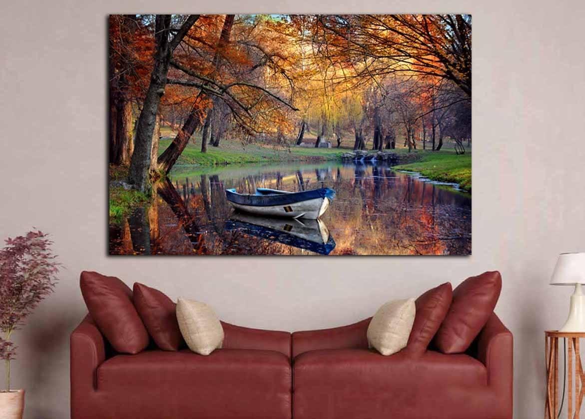 Nature Wall Art,season Fall Art.fall Season Art,fall Canvas Art With Nature Wall Art (Photo 16 of 20)