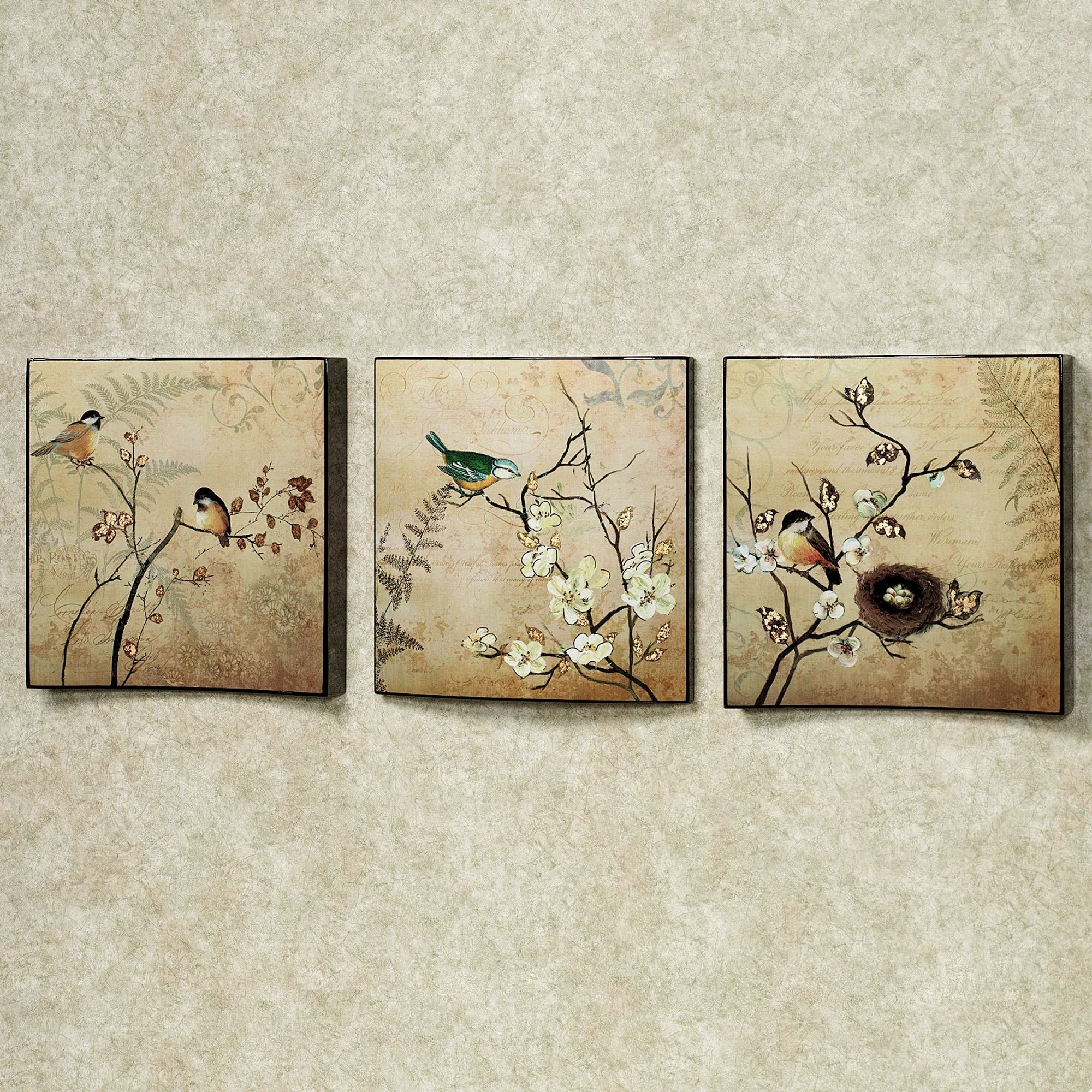 Natures Kiss Birds Wall Art Set Remarkable Touch Of Class Metal With Regard To Touch Of Class Wall Art (Photo 3 of 20)