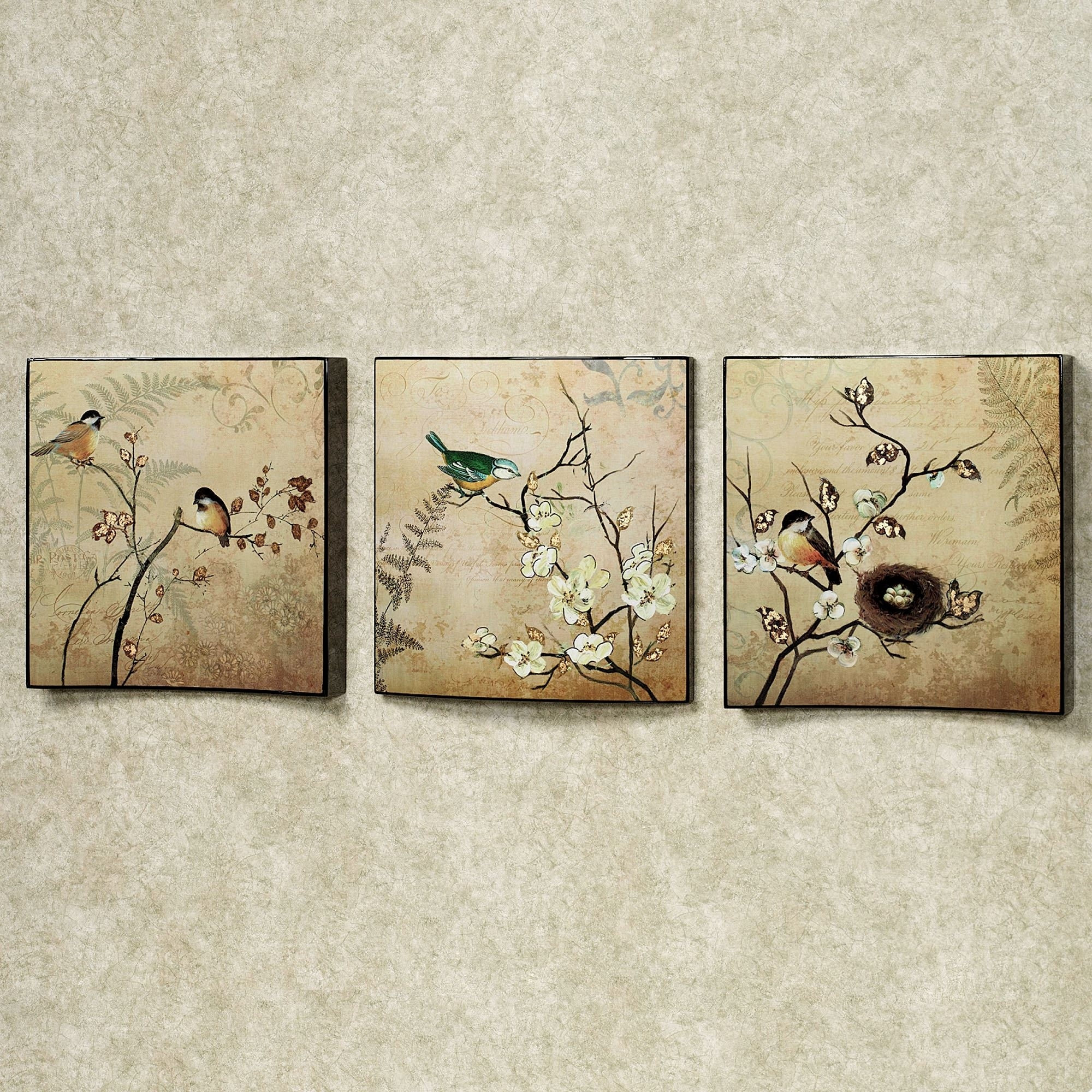Natures Kiss Birds Wall Art Set With Regard To Wall Art Sets (Photo 18 of 20)