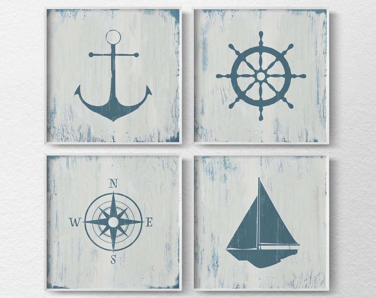Nautical Wall Art Lovely Nautical Decor Nautical Nursery Nautical With Regard To Nautical Wall Art (Photo 12 of 20)