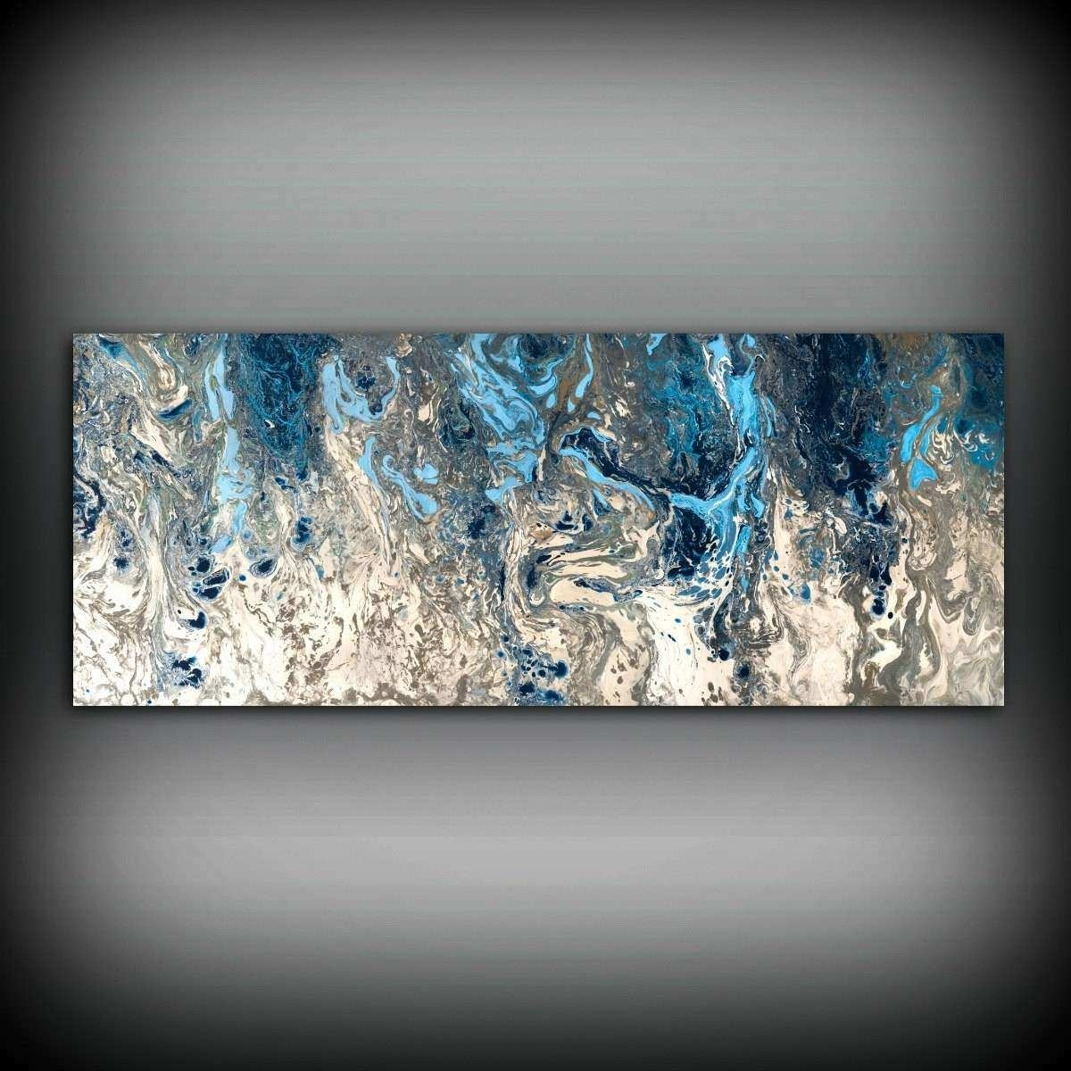 Navy Blue Wall Art Beautiful Abstract Painting Print Navy Blue Print throughout Navy Blue Wall Art (Image 10 of 20)