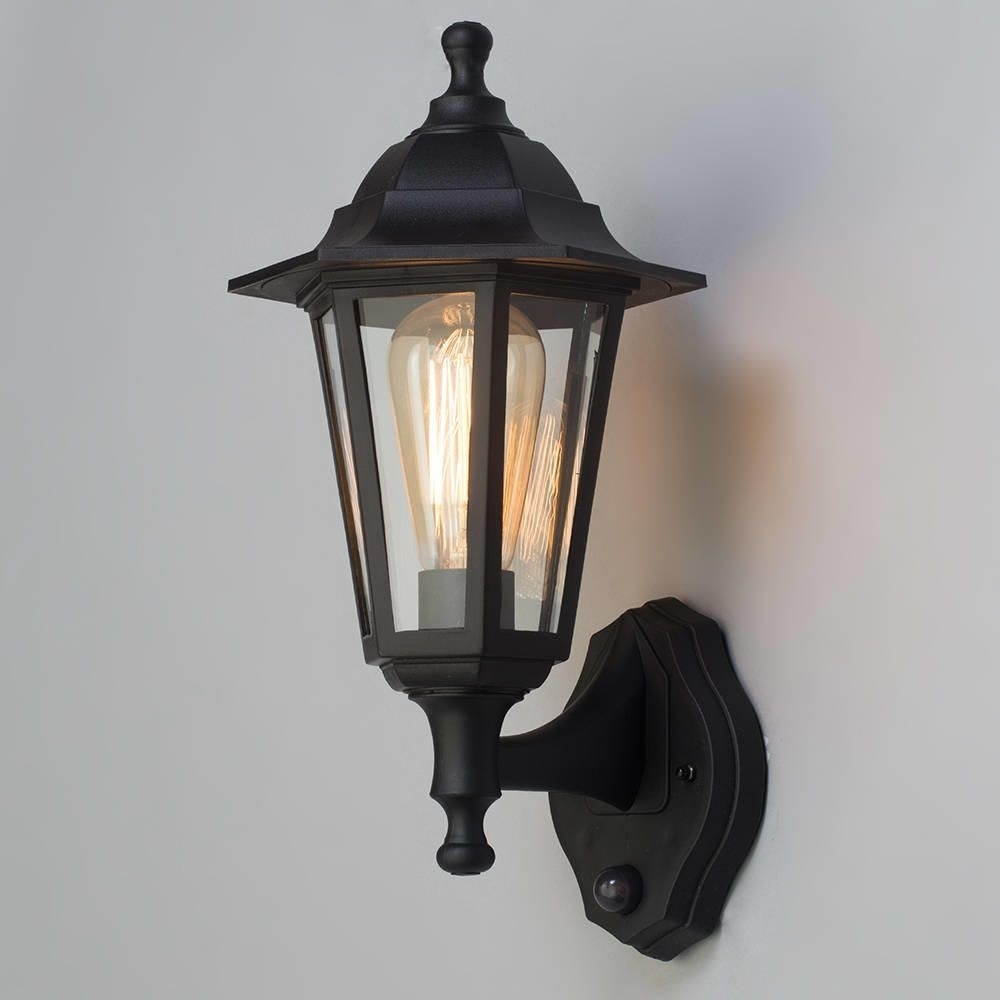 Neri Outdoor Polycarbonate Wall Lantern With Pir - Black in Outdoor Pir Lanterns (Image 11 of 20)