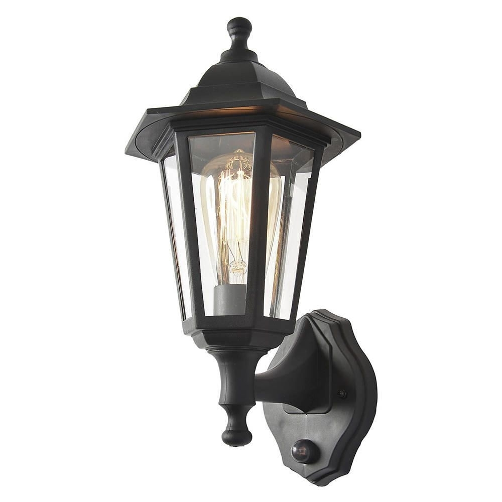 Neri Outdoor Polycarbonate Wall Lantern With Pir - Black with Outdoor Lanterns With Pir (Image 13 of 20)
