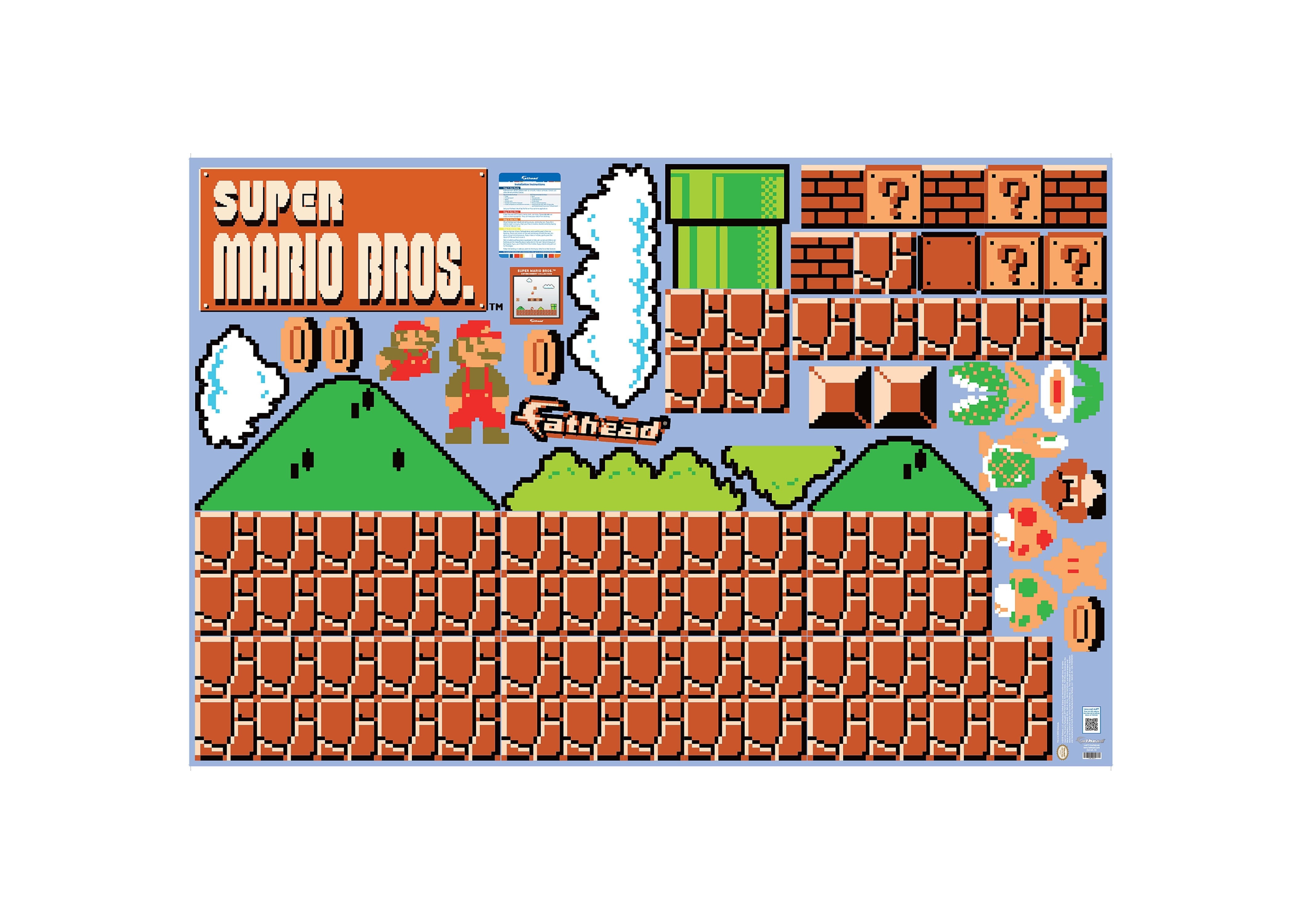 Nes™ Super Mario Bros.™: Room Theme   Large Officially Licensed Pertaining To Nintendo Wall Art (Photo 14 of 20)