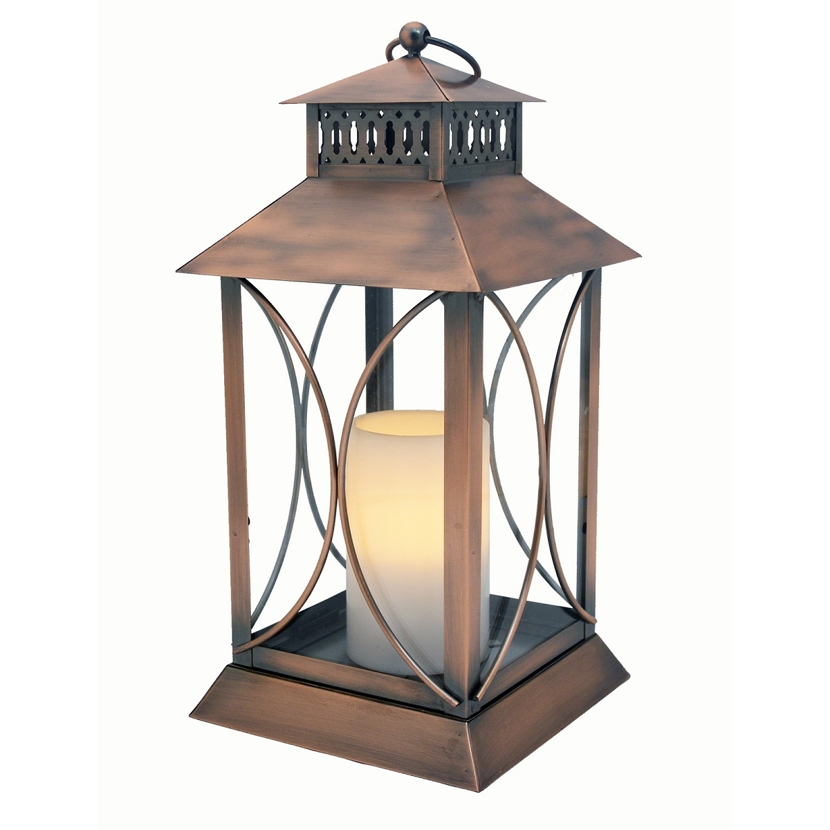 Neuporte Flameless Candle Lantern With Timer Indoor Outdoor pertaining to Indoor Outdoor Lanterns (Image 16 of 20)