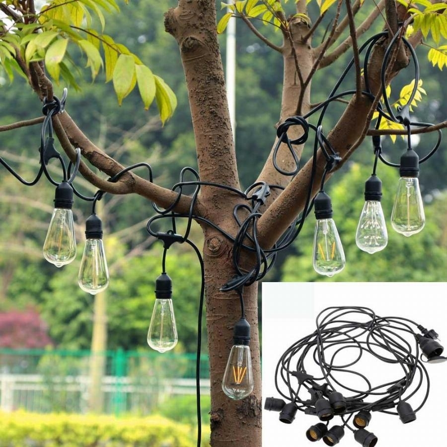New 30Ft 9Led E27 Hanging Sockets Lanterns Outdoor Garden Fairy Led Throughout Outdoor Holiday Lanterns (View 16 of 20)