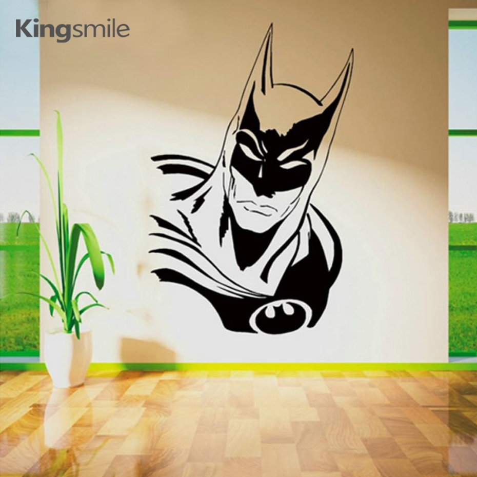 New Batman Wall Decals Sticker Vinyl Wall Art Movie Poster Cartoon For Batman Wall Art (Photo 9 of 20)