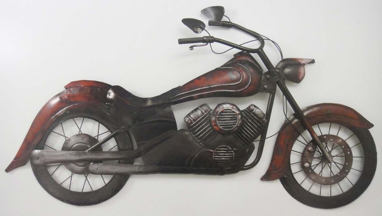 New Contemporary Metal Wall Art Decor - Classic Old Motorbike Or throughout Motorcycle Wall Art (Image 15 of 20)
