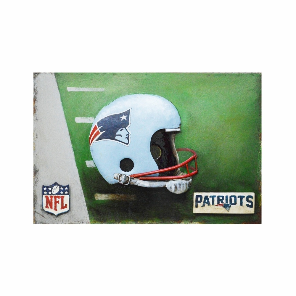 New England Patriots Nfl Metal Wall Art In Nfl Wall Art (Photo 20 of 20)