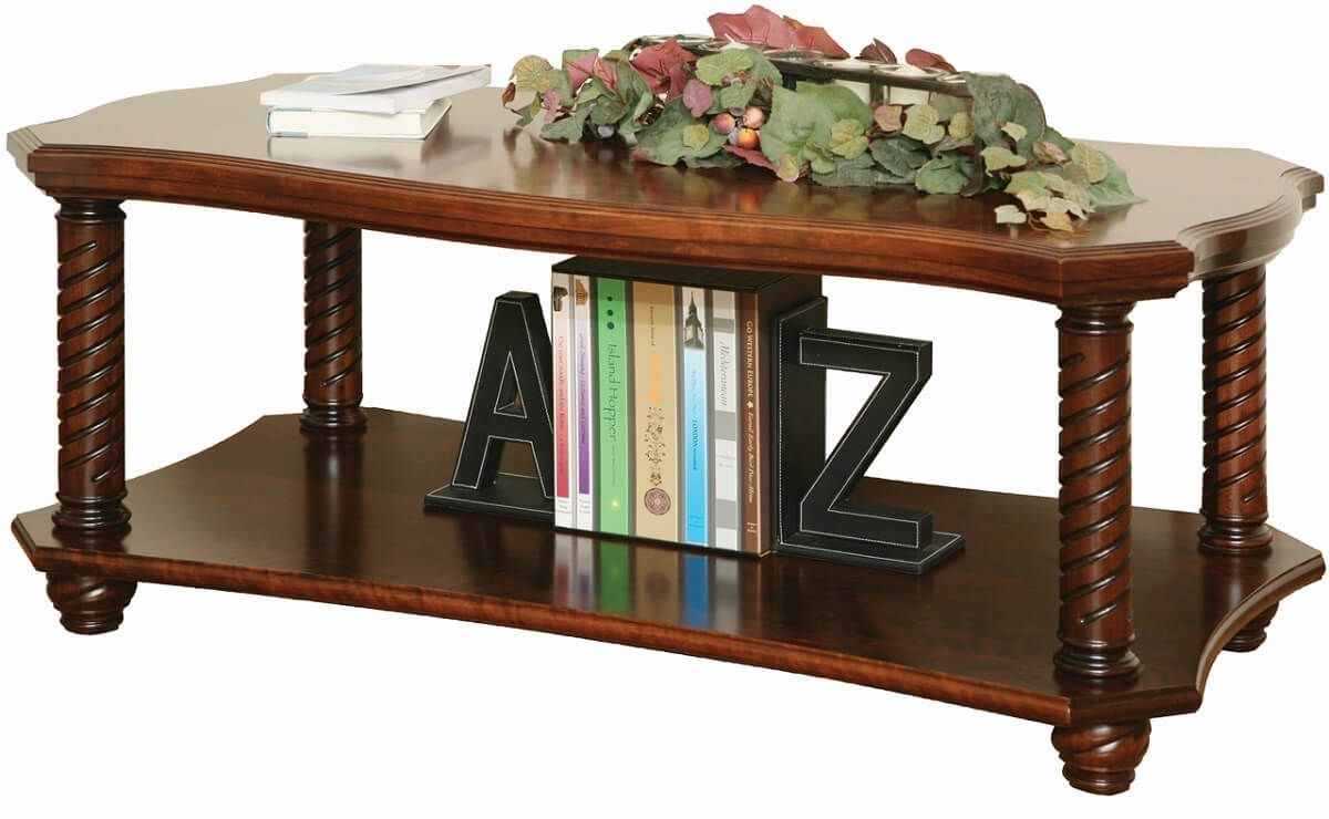 New Haven Ornate Coffee Table - Countryside Amish Furniture in Haven Coffee Tables (Image 27 of 30)
