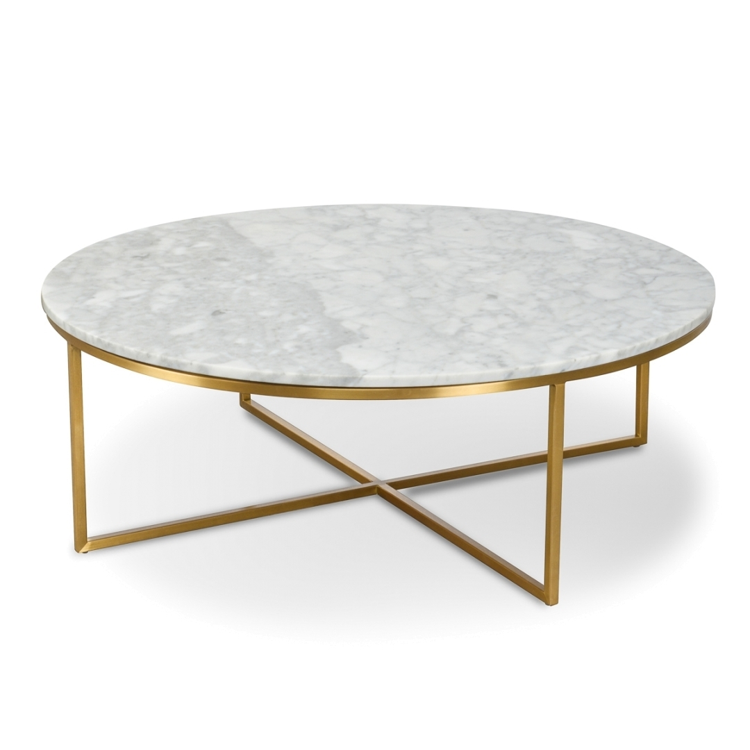 New Marble Coffee Table Within Rosa Modern Black Brushed Gold within Alcide Rectangular Marble Coffee Tables (Image 18 of 30)