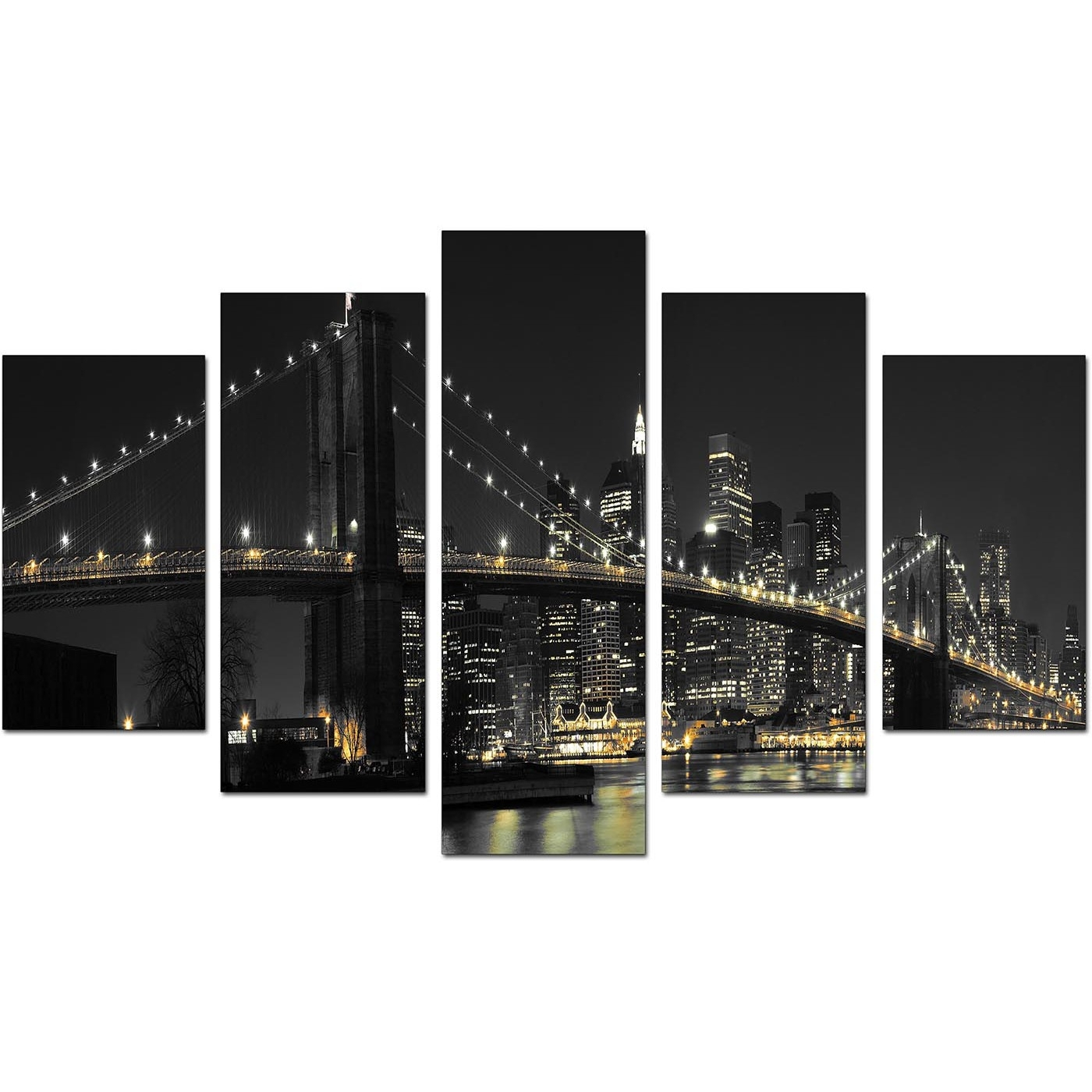 New York Canvas Wall Art For Your Living Room   Set Of Five Pertaining To Nyc Wall Art (Photo 17 of 20)
