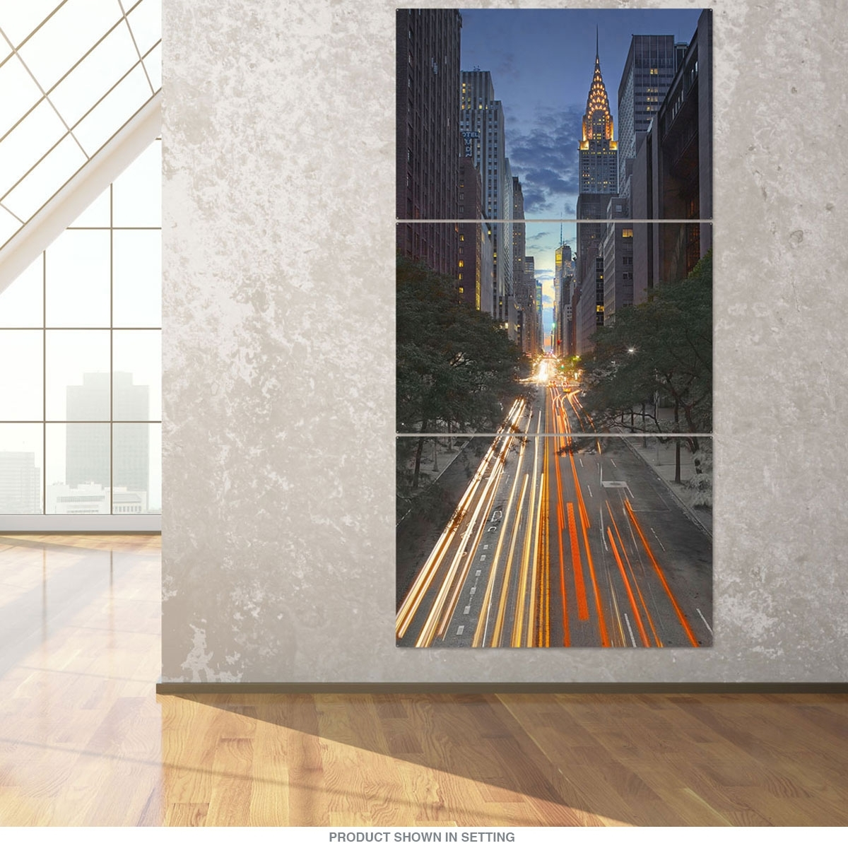 New York City 42Nd Street Canyon Large Metal Signs | Triptych Wall regarding Triptych Wall Art (Image 15 of 20)