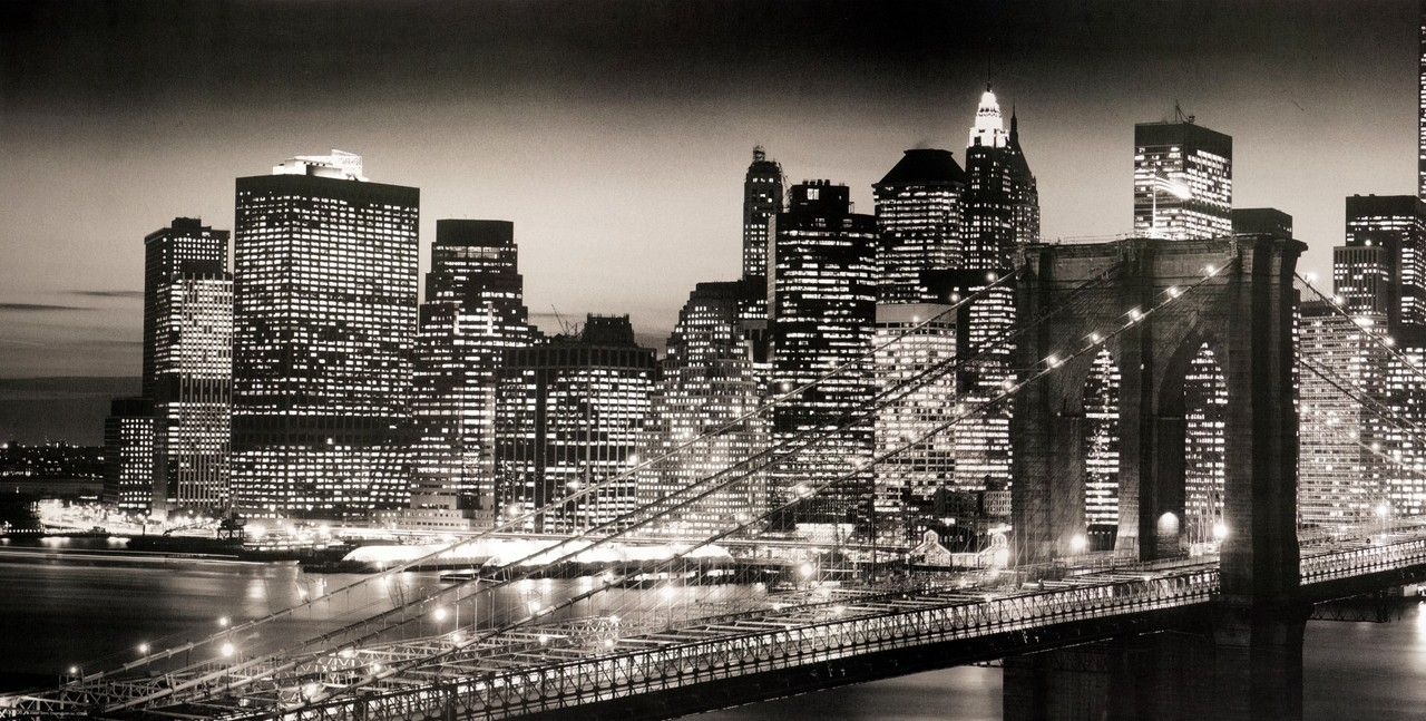 New York City Canvas Wall Art Popular Brooklyn Bridge Stretched Pertaining To Nyc Wall Art (Photo 12 of 20)