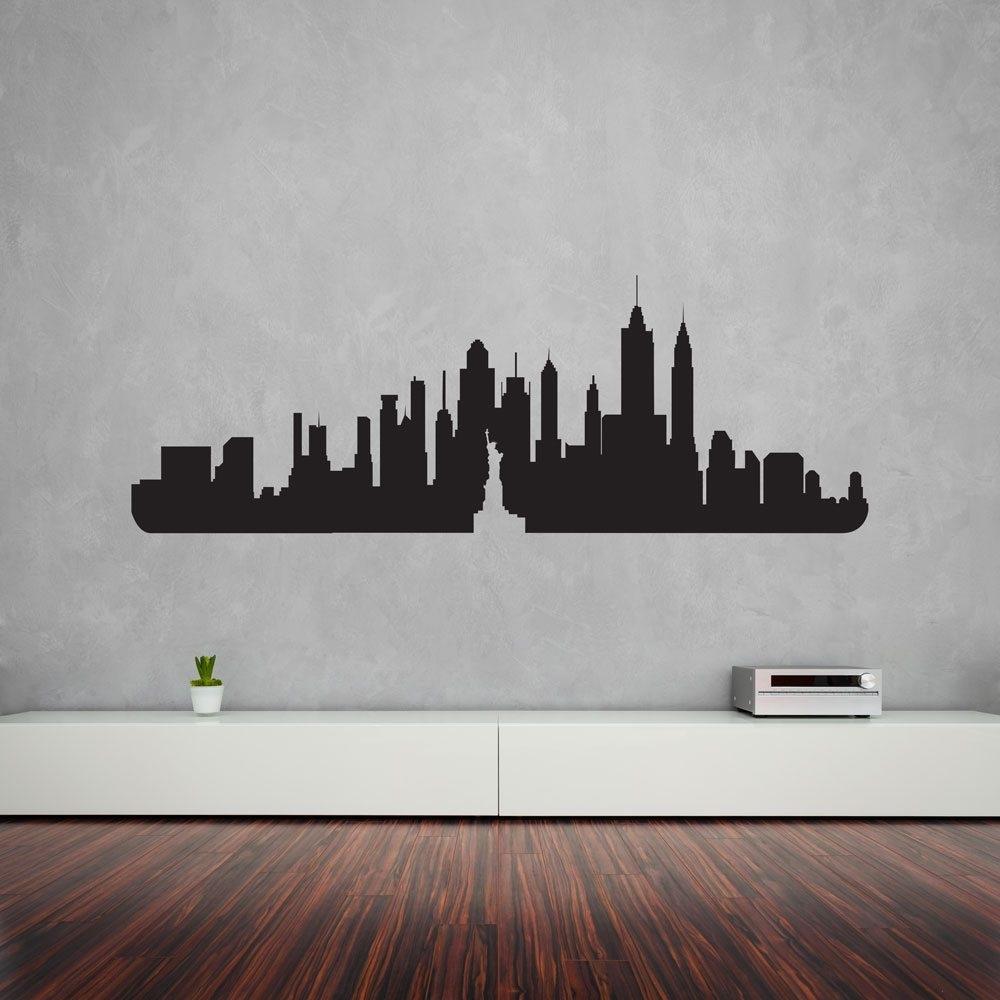 New York City Skyline Vinyl Wall Art Decal | Vinyl Revolution Inside New York Wall Art (Photo 10 of 20)