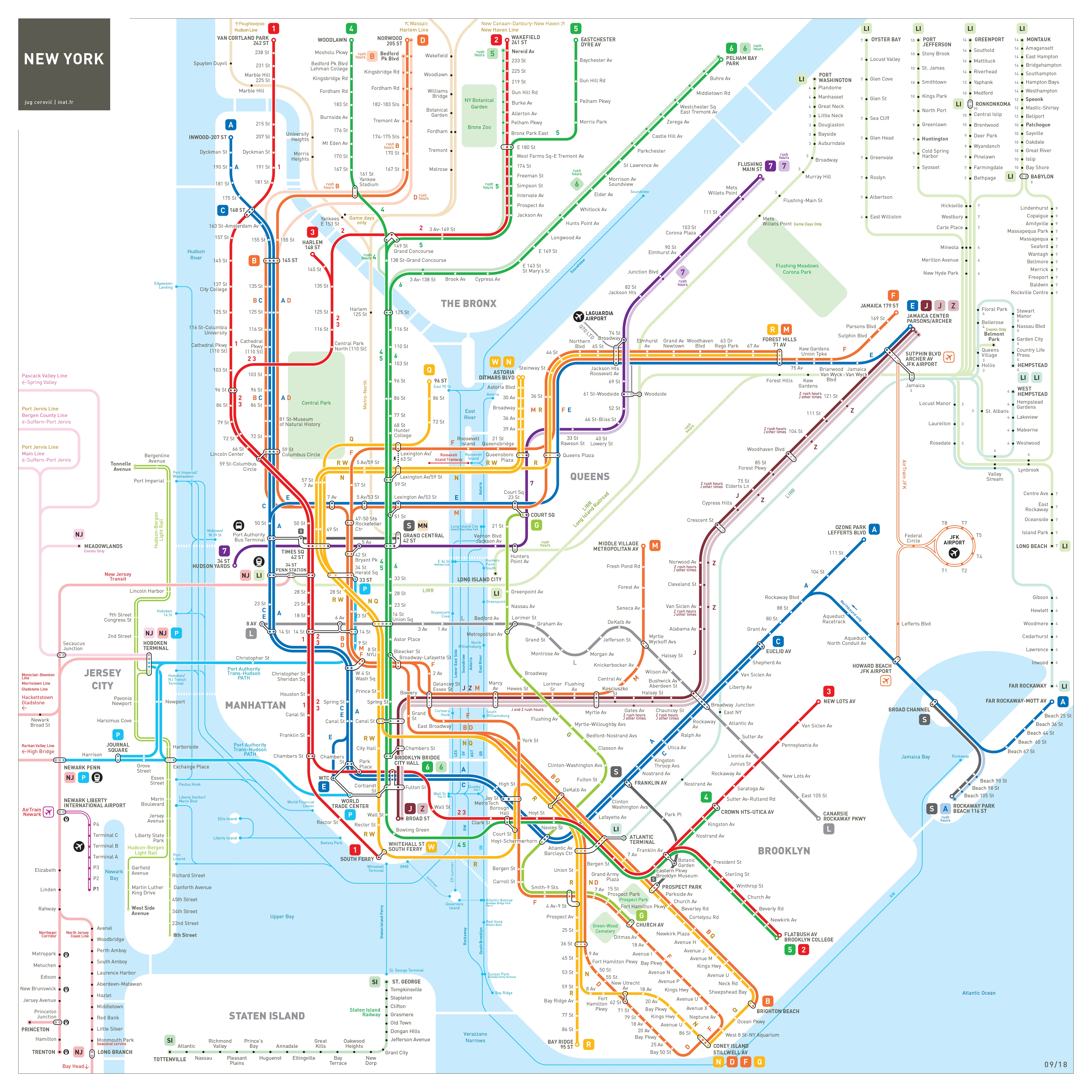 New York City Subway Map : Inat intended for Nyc Subway Map Wall Art (Image 8 of 20)