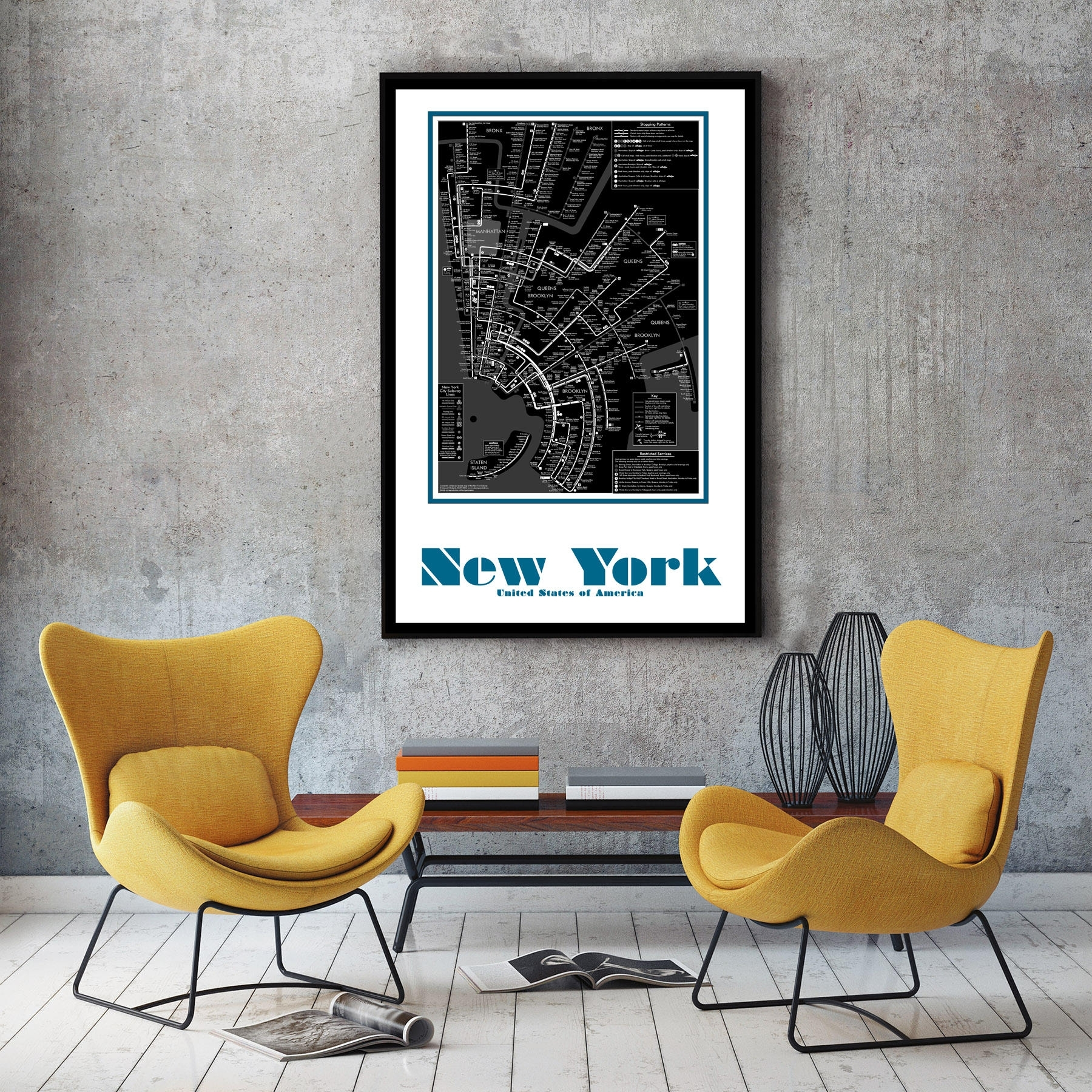 New York City Subway Map Wall Art Decor. Map Of Decor. City Map Wall For New York Subway Map Wall Art (Photo 14 of 20)