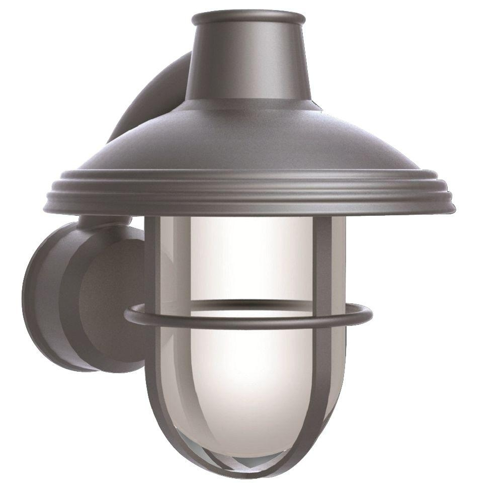 Newport Coastal Bayview Satin Nickel Outdoor Wall Mount Lantern 7972 Inside Outdoor Nautical Lanterns (Photo 14 of 20)