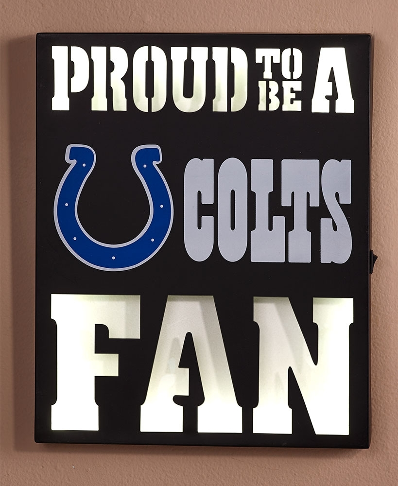 Nfl Led Metal Wall Art | The Lakeside Collection Pertaining To Nfl Wall Art (Photo 1 of 20)