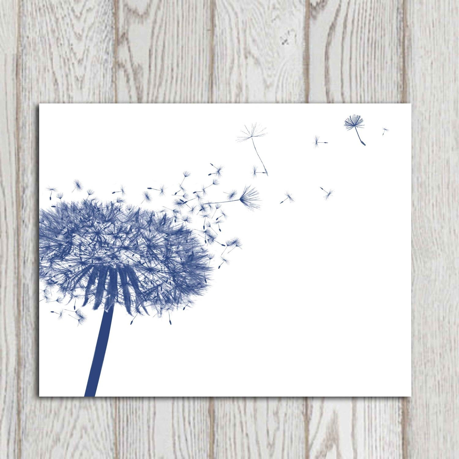 Nice Design Navy Blue Wall Art Best Of Dandelion Decor Print Home intended for Navy Blue Wall Art (Image 16 of 20)