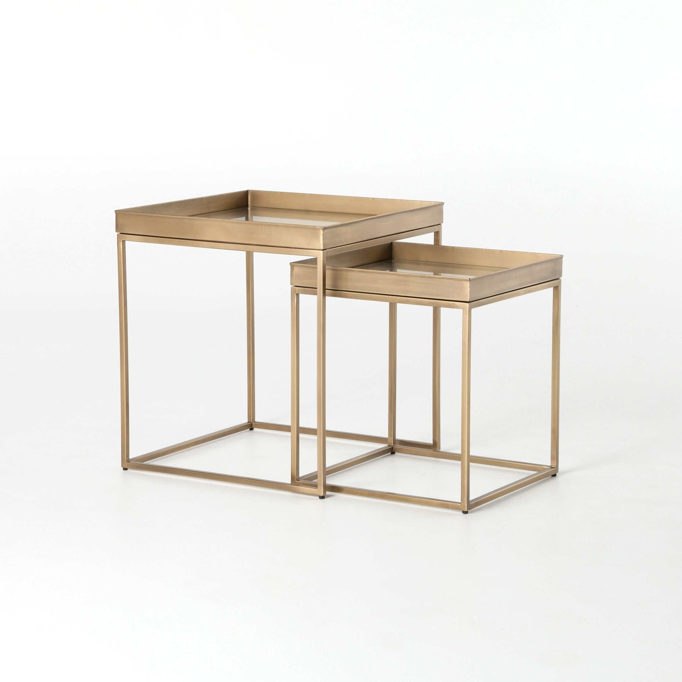 No. 8 + Modern Lines With A Found Feel For Entertaining. Airy Brass inside Aged Iron Cube Tables (Image 21 of 30)