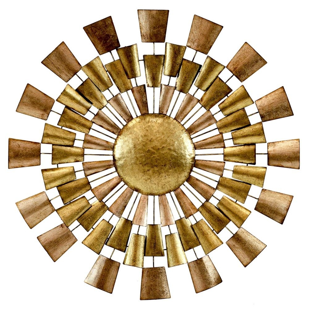 Norah Copper And Gold Metal Wall Decor 5094   The Home Depot With Gold Metal Wall Art (Photo 1 of 20)