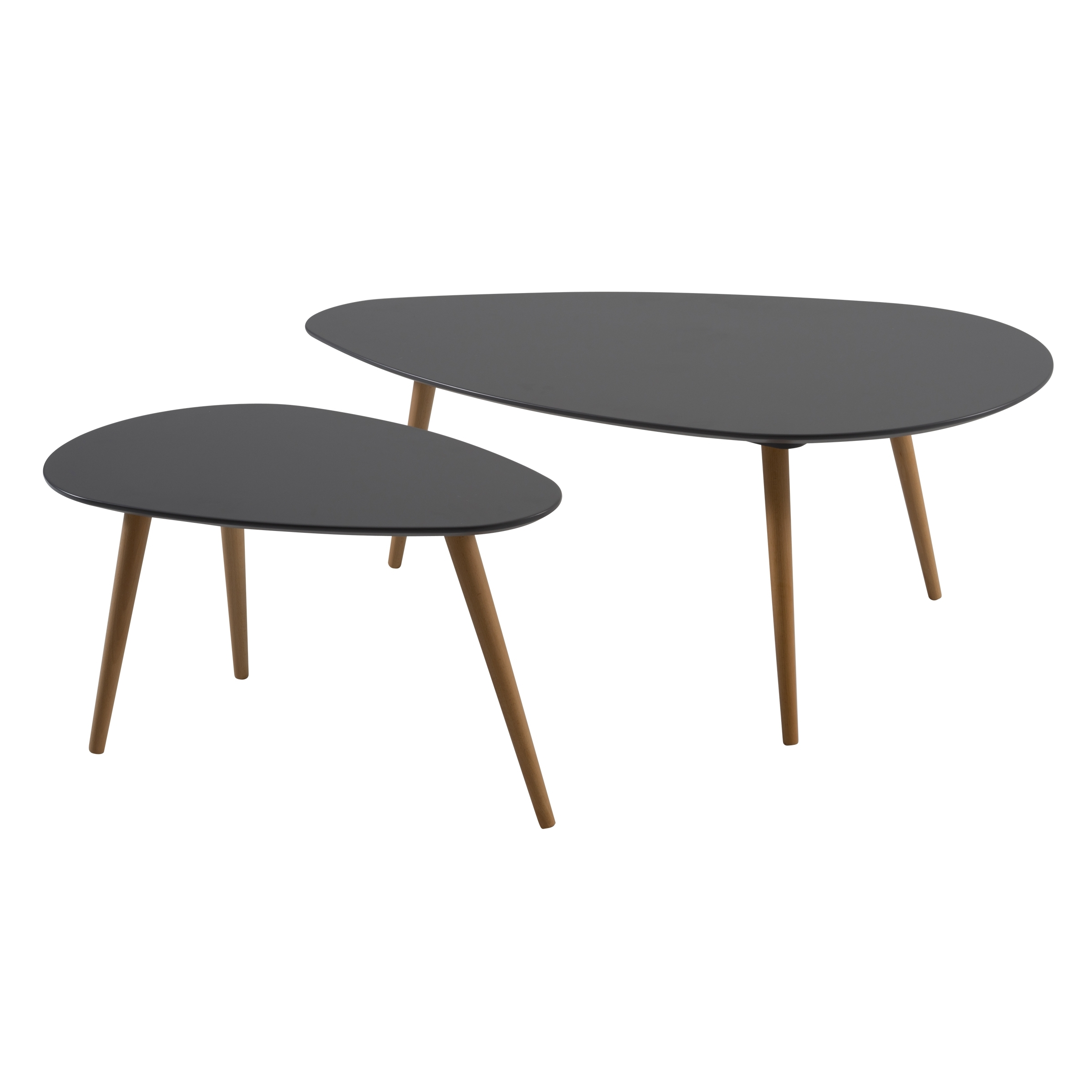 Nord Nest Coffee Table Set with Set of Nesting Coffee Tables (Image 21 of 30)
