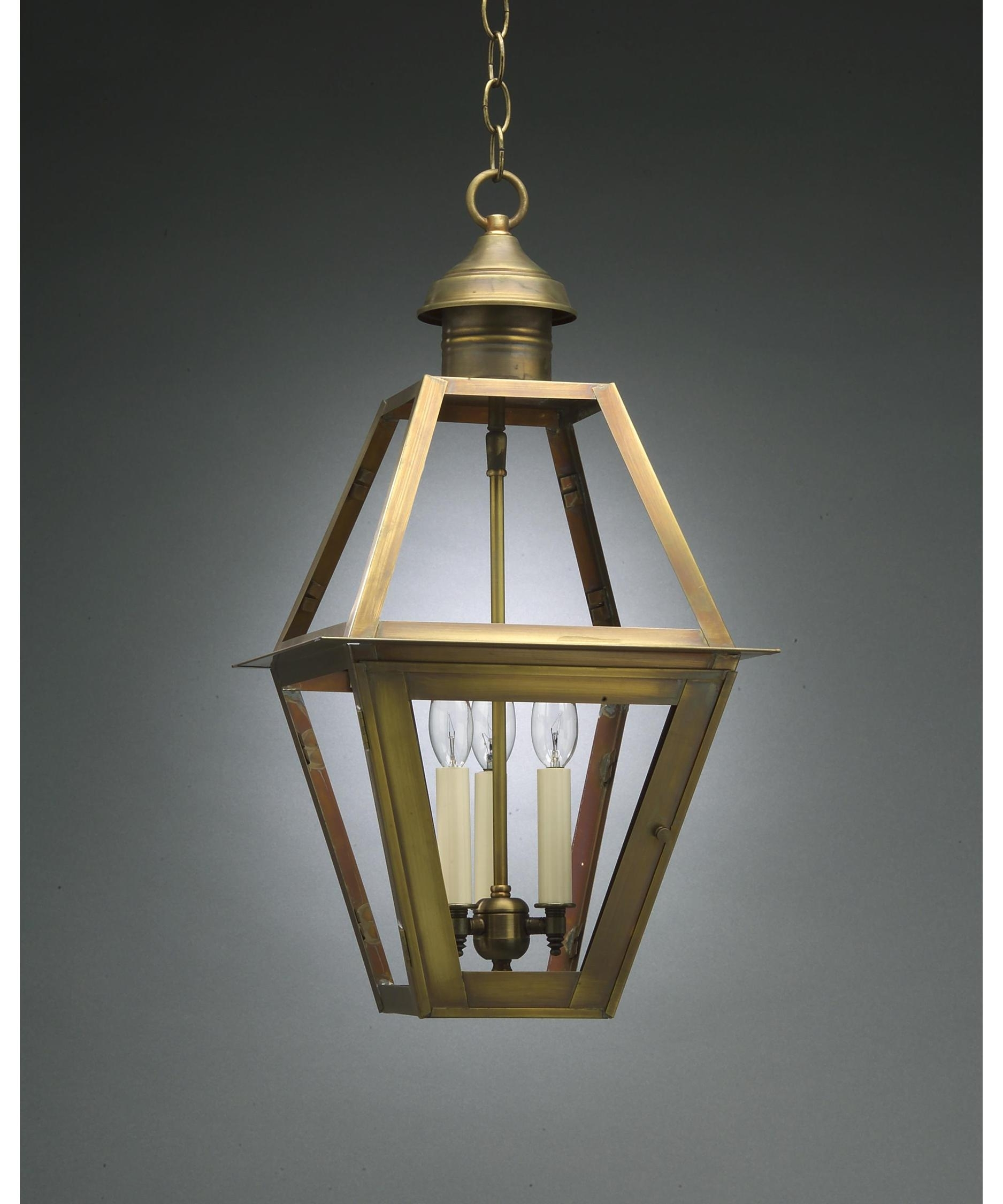 Northeast Lantern 1012 Lt3 Boston 12 Inch Wide 3 Light Outdoor Pertaining To Outdoor Pendant Lanterns (Photo 11 of 20)