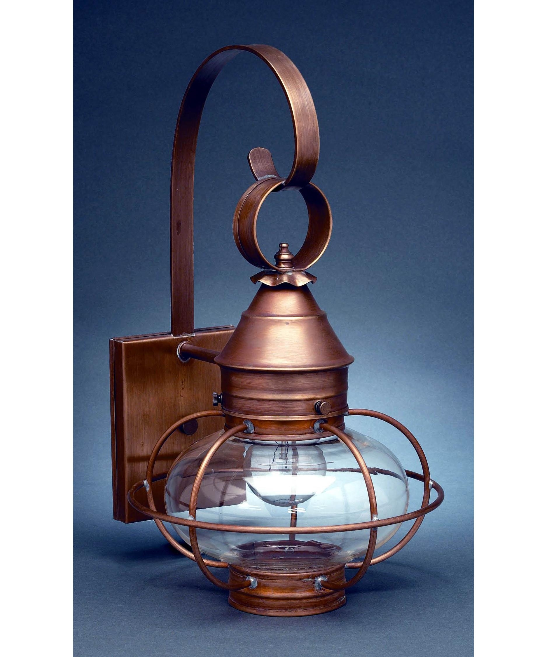 Northeast Lantern 2521-Med Onion 9 Inch Wide 1 Light Outdoor Wall in Outdoor Lighting Onion Lanterns (Image 8 of 20)