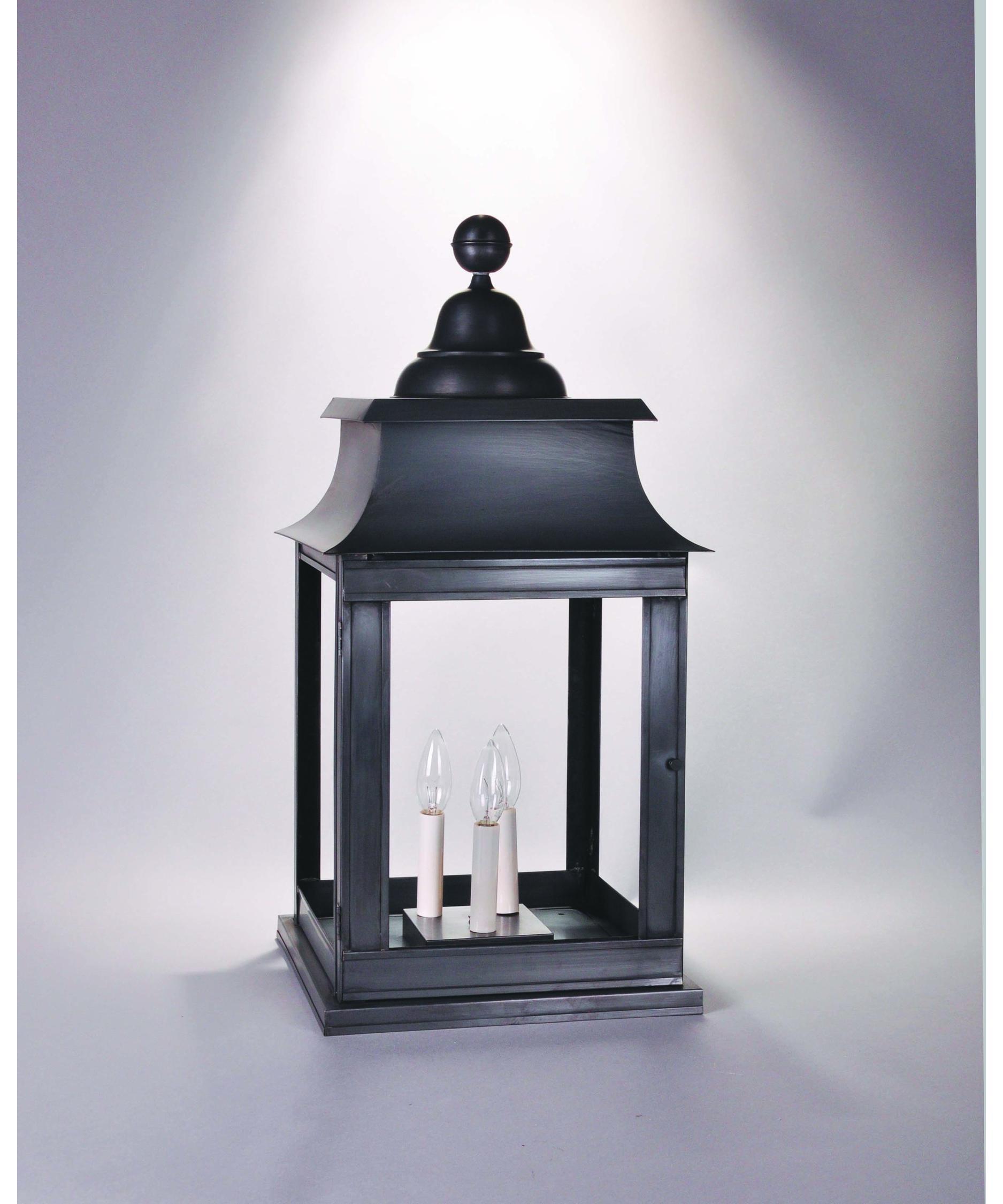 Northeast Lantern 5653P Lt3 Concord 3 Light Outdoor Pier Lamp Pertaining To Brass Outdoor Lanterns (Photo 18 of 20)