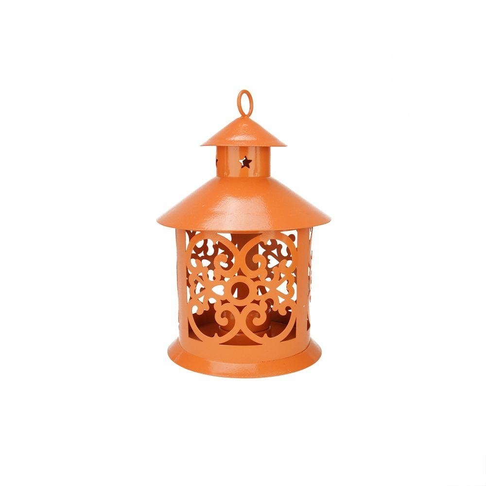 Northlight 8 In. Shiny Orange Votive Or Tealight Candle Holder throughout Outdoor Lanterns and Votives (Image 12 of 20)