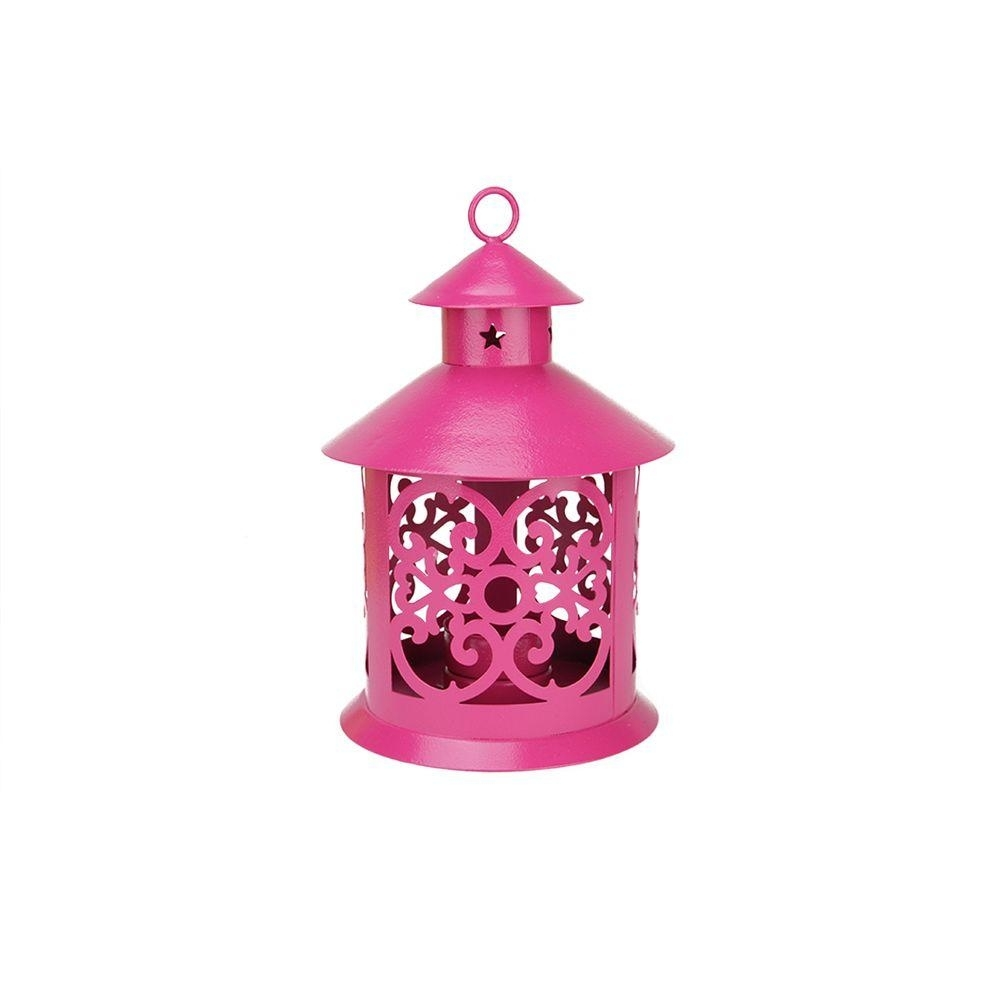 Northlight 8 In. Shiny Pink Votive Or Tealight Candle Holder Lantern Intended For Outdoor Lanterns And Votives (Photo 13 of 20)