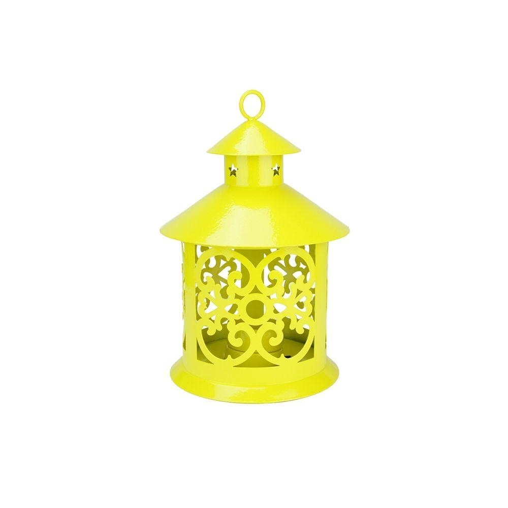 Northlight 8 In. Shiny Yellow Votive Or Tealight Candle Holder pertaining to Yellow Outdoor Lanterns (Image 18 of 20)