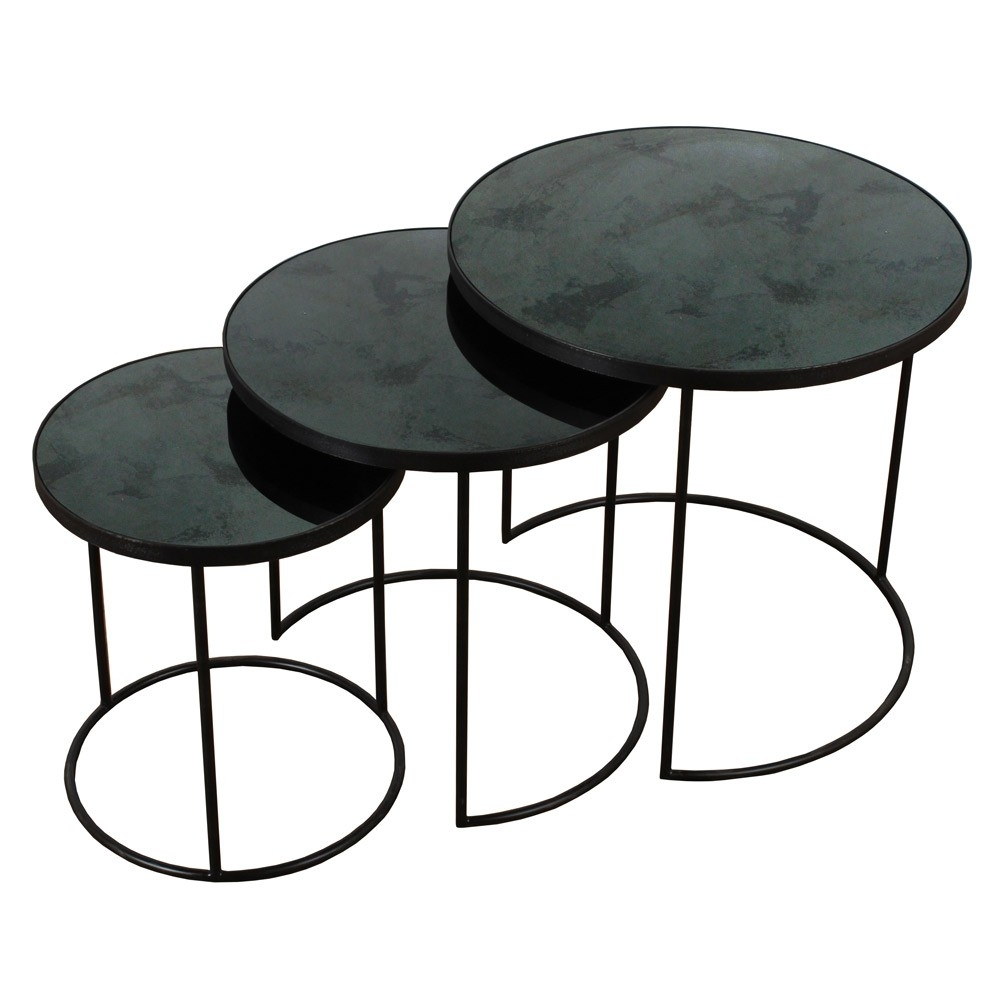 Notre Monde Nesting Side Table Set Of 3 | Houseology pertaining to Set Of Nesting Coffee Tables (Image 24 of 30)
