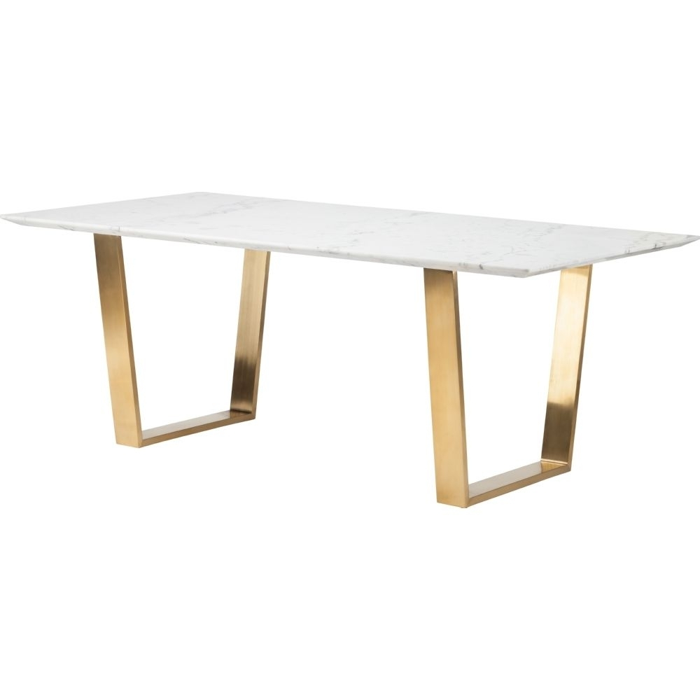 Nuevo Modern Furniture Catrine Dining Table W/ White Marble Top On With Jackson Marble Side Tables (Image 14 of 30)