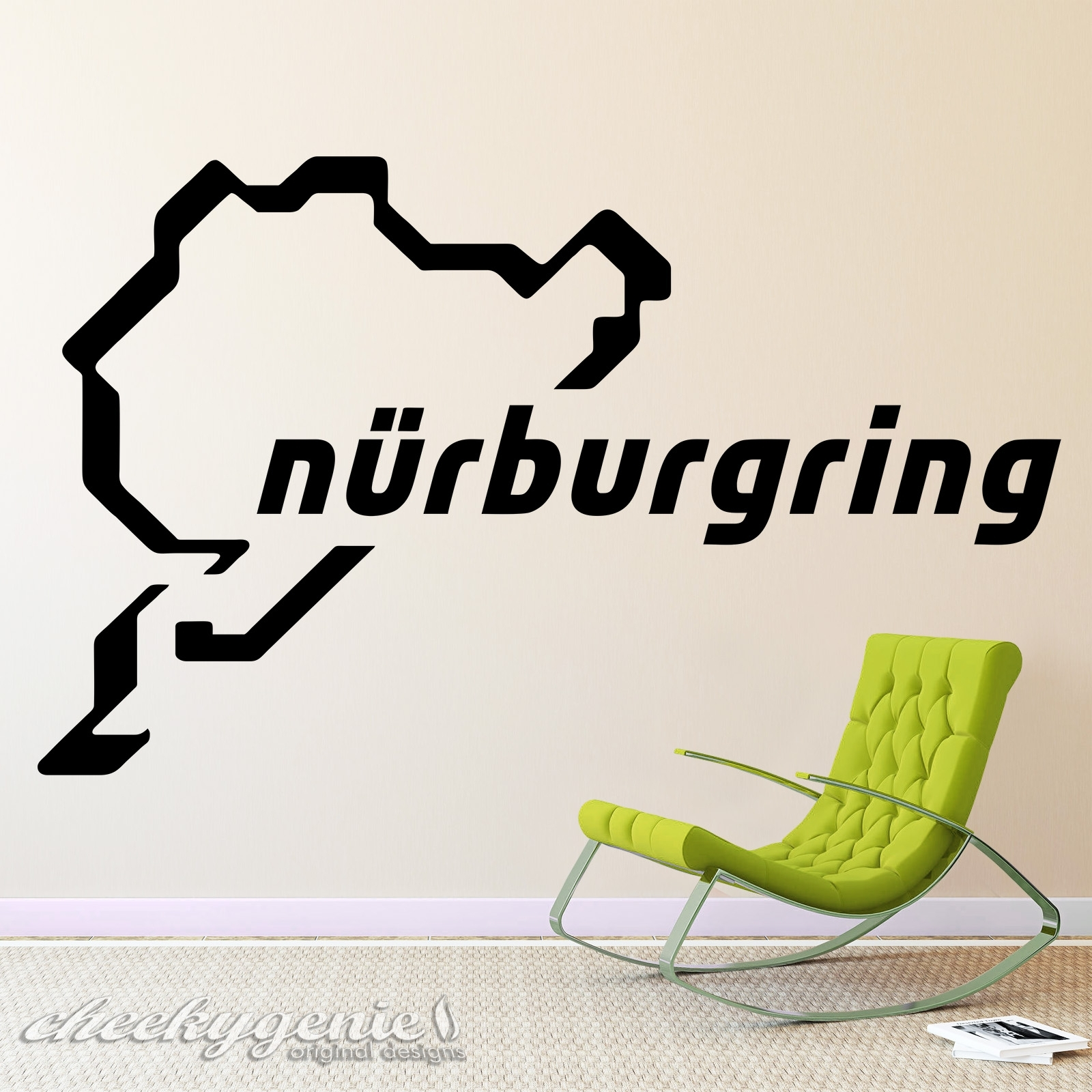 Nurburgring Racing Track Day Circuit Car Vinyl Wall Art Sticker Throughout Race Track Wall Art (Photo 8 of 20)