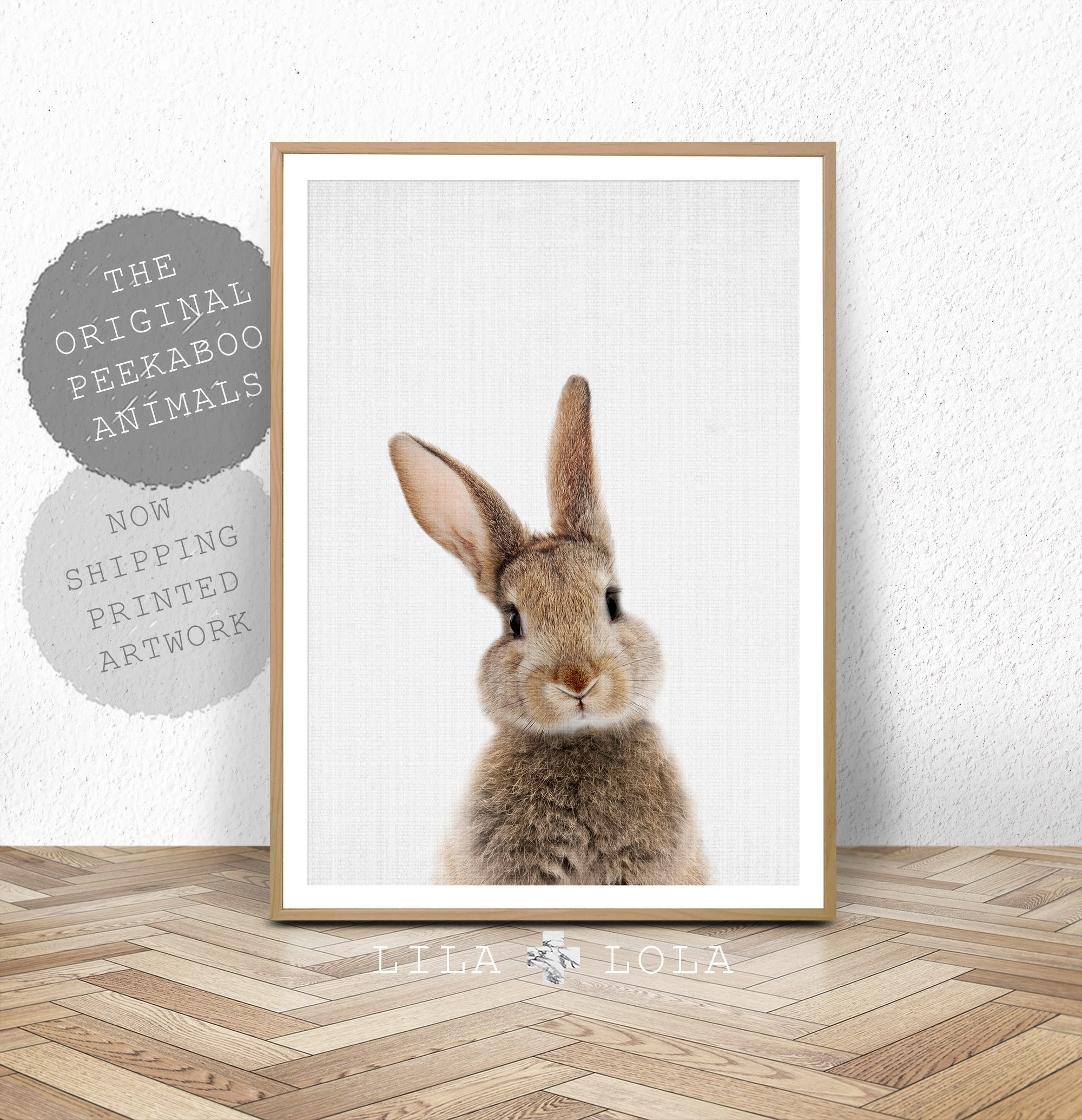 Nursery Bunny Rabbit Print, Wall Art Decor, Printed And Shipped Intended For Bunny Wall Art (Photo 10 of 20)