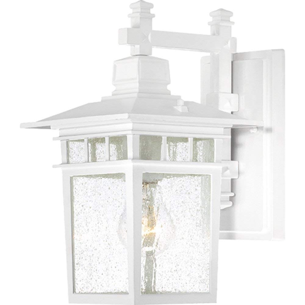Nuvo Lighting 60/4951 Cove Neck One Light Wall Lantern/arm Down 100 With White Outdoor Lanterns (Photo 18 of 20)