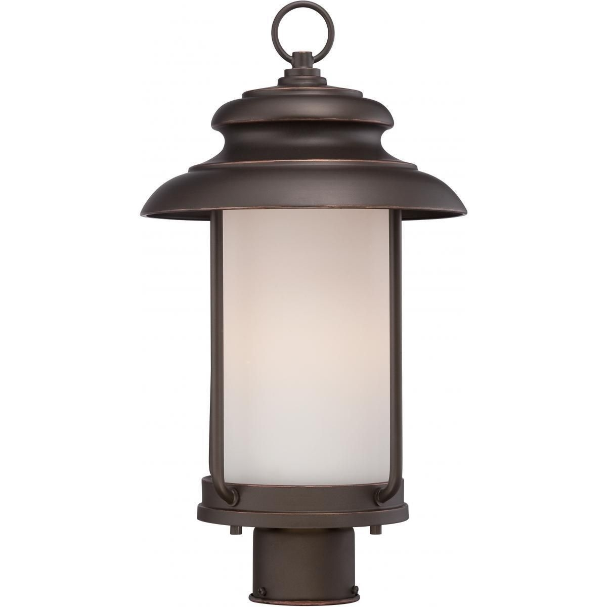 Nuvo Lighting Bethany Led Outdoor Post (Mahogany (Brown) Bronze Intended For Led Outdoor Lanterns (Photo 18 of 20)