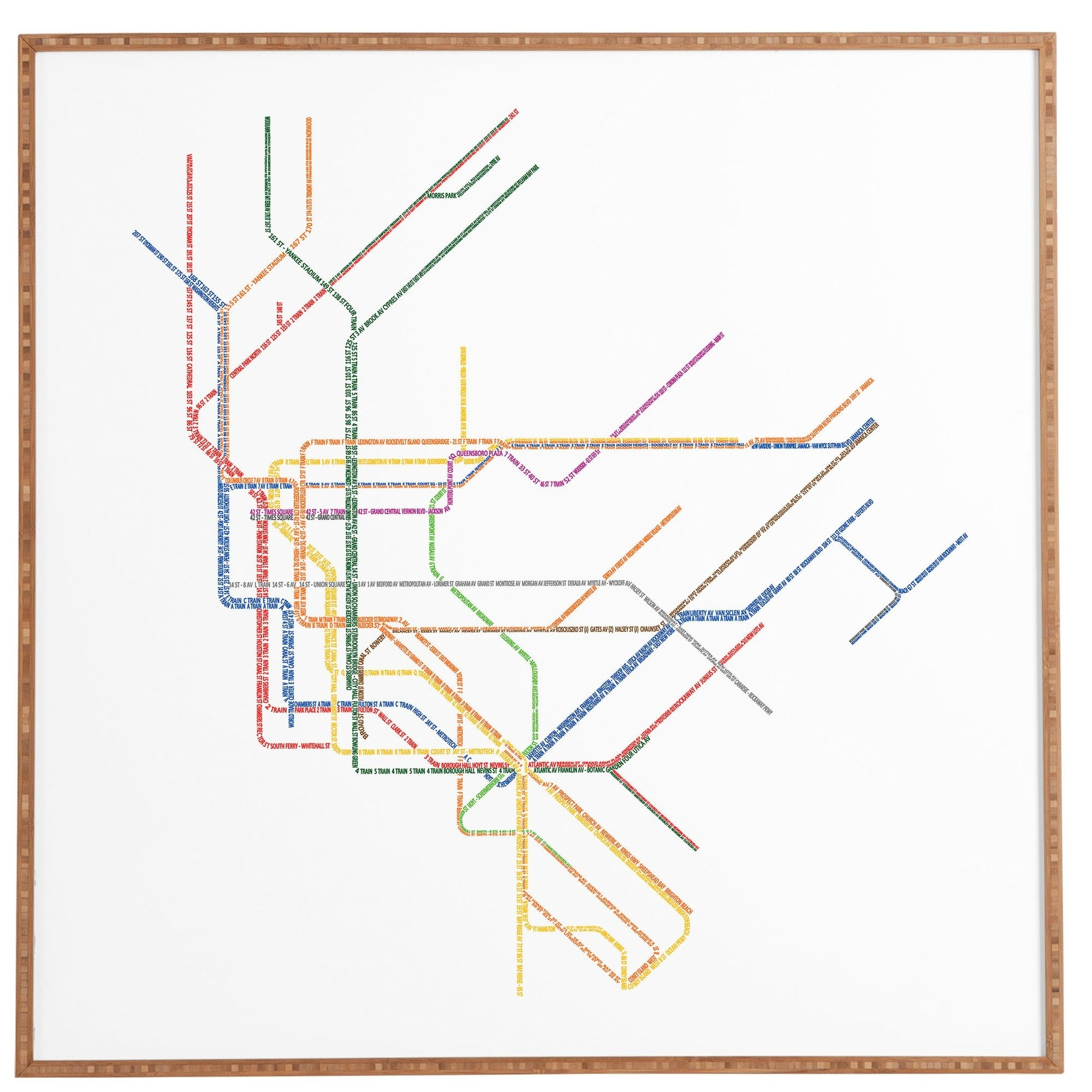 Nyc Subway Map Framed Wall Art | Products | Pinterest | Subway Map With Regard To Nyc Subway Map Wall Art (Photo 16 of 20)