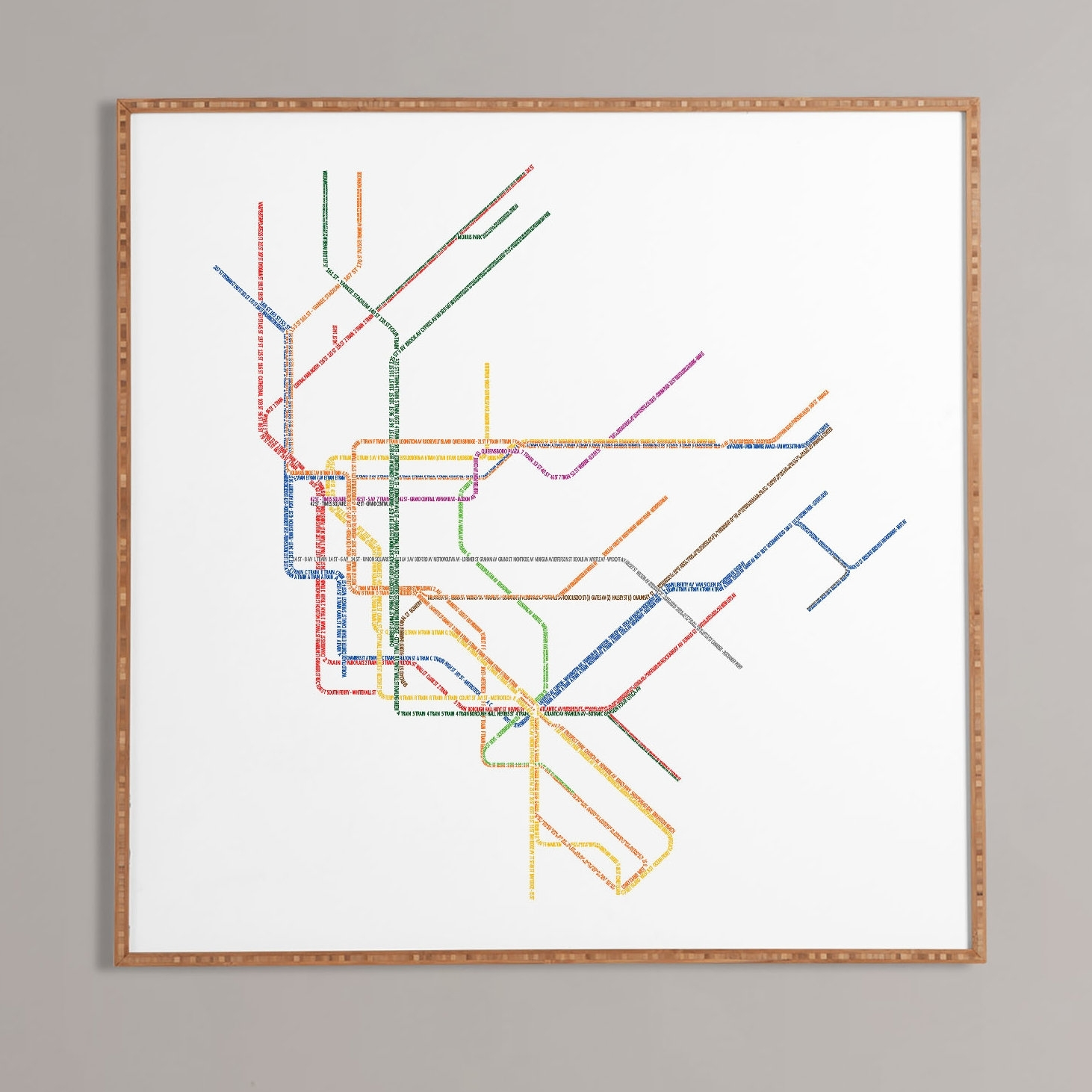 Nyc Subway Map' Framed Wall Art & Reviews | Allmodern for Nyc Subway Map Wall Art (Image 17 of 20)