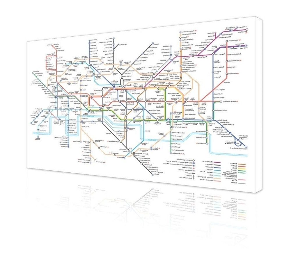 Nyc Subway Map Wall Art Lovely 45 Of Tube Map Wall Art – Mehrgallery Pertaining To Tube Map Wall Art (Photo 9 of 20)
